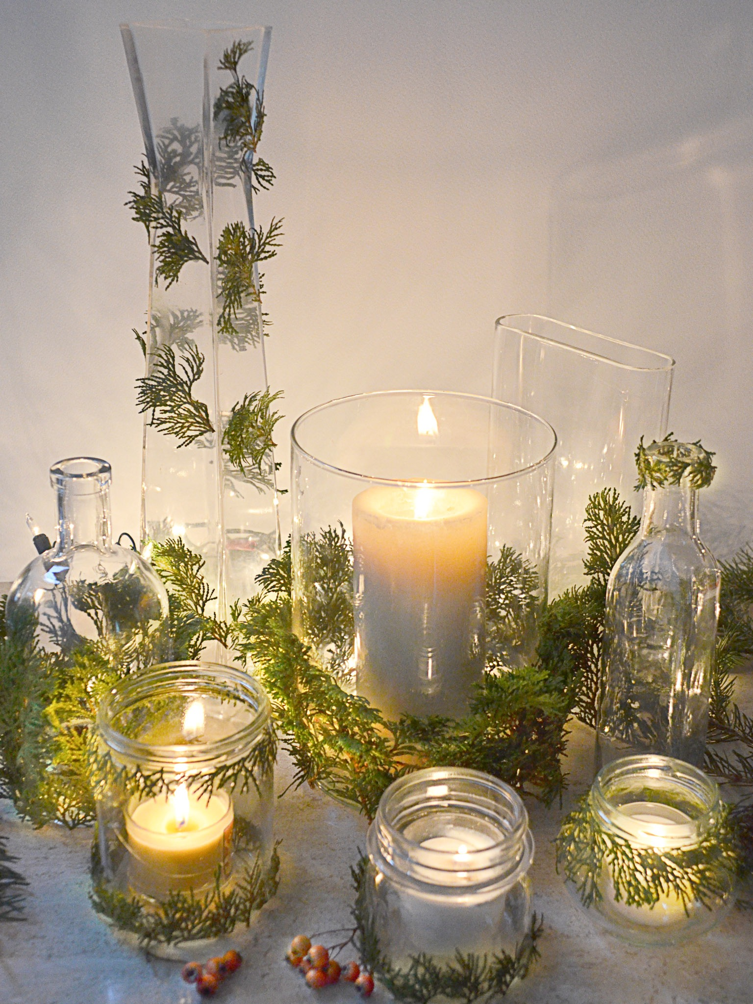 Mason Jar Votive Candle Centerpieces (Image 9 of 20)