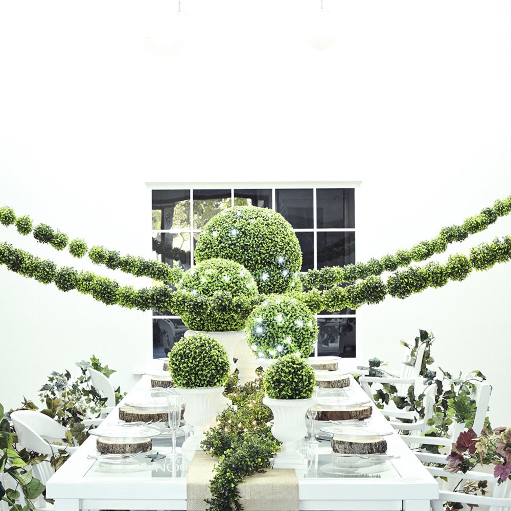 Natural Green Moss Centerpiece Decor For Wedding (Image 26 of 35)