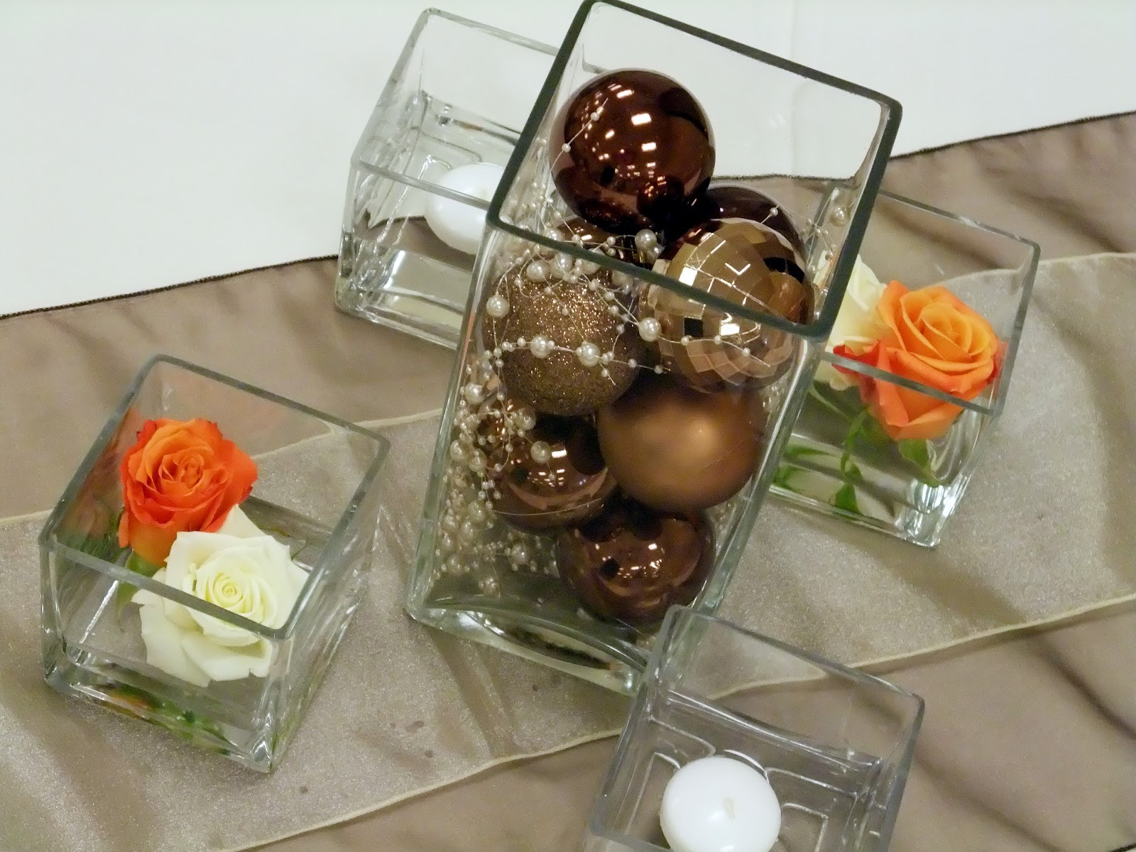 Simple DIY Non Floral Centerpiece With Square Glass Vases (Image 29 of 35)