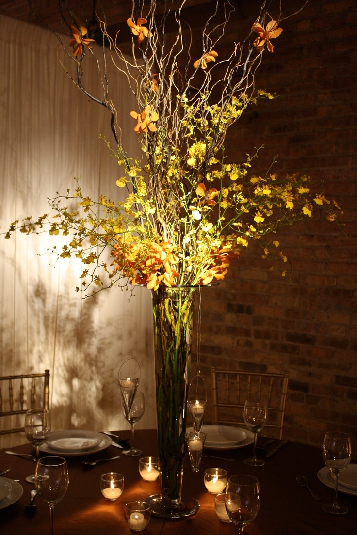 Stunning Tall Branch Wedding Centerpieces With Lighting (View 26 of 30)