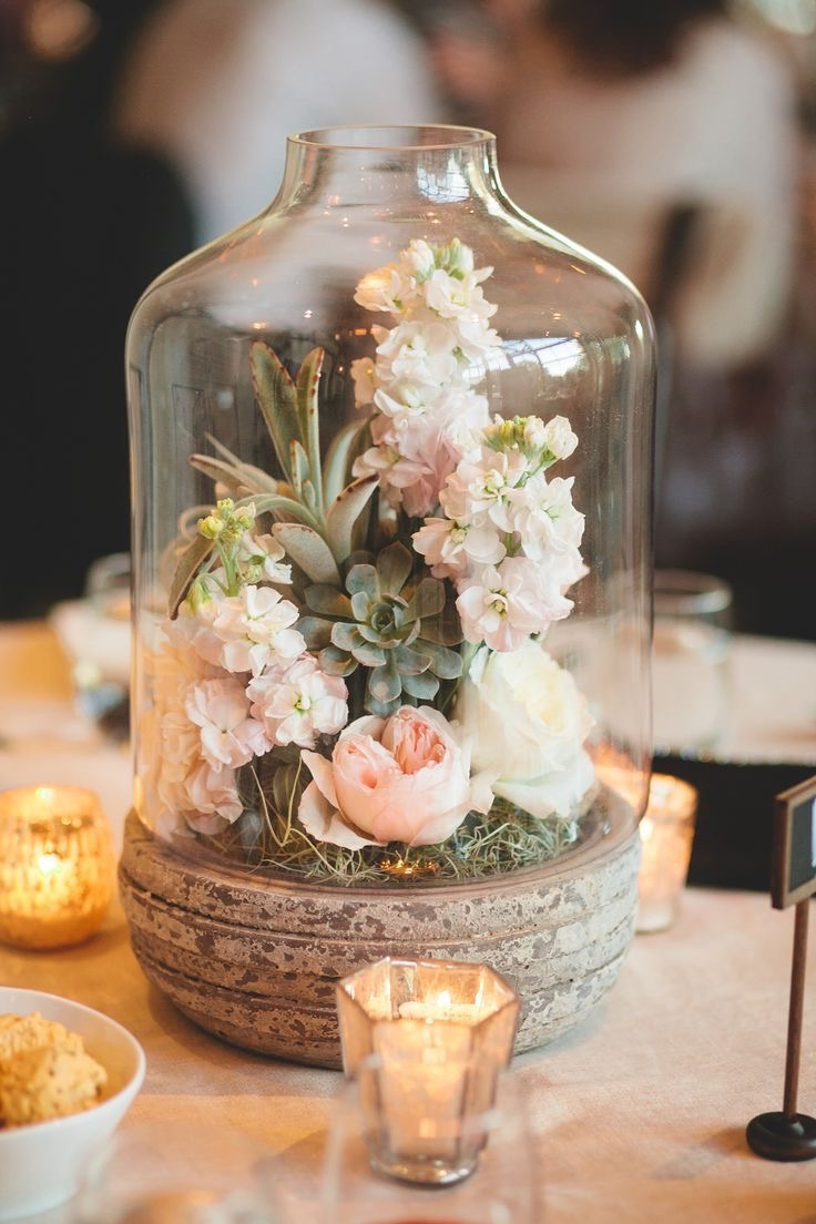 Summer Rustic Terrarium Wedding Centerpieces (Image 16 of 20)
