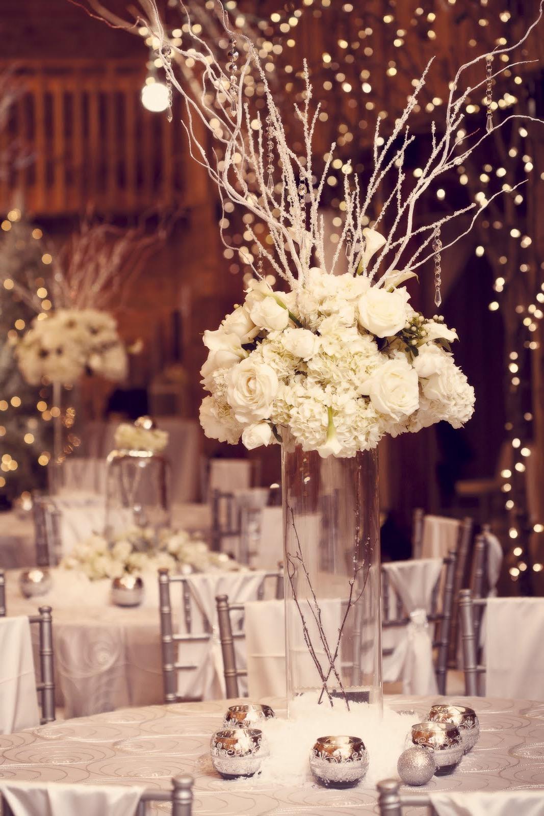 Tall Wedding Centerpieces With Branches And White Flower (Image 26 of 30)