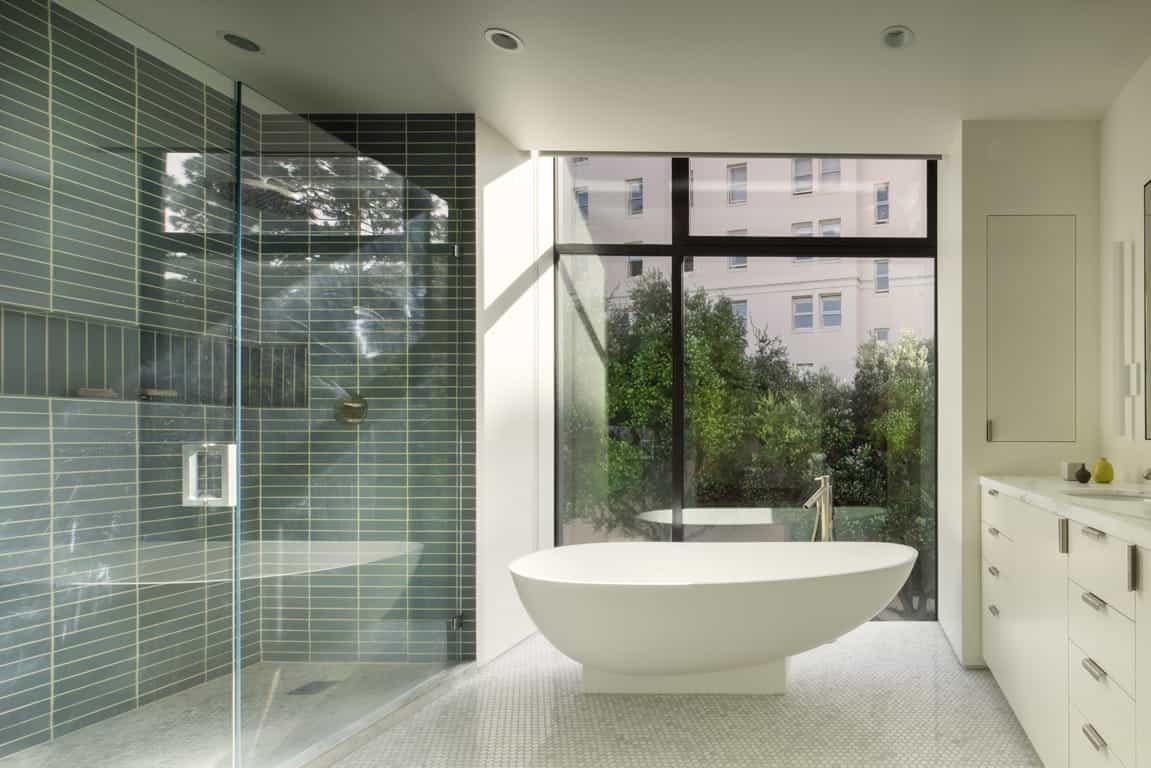 2017 Contemporary Apartment Bathroom Mosaic Flooring (Image 1 of 20)