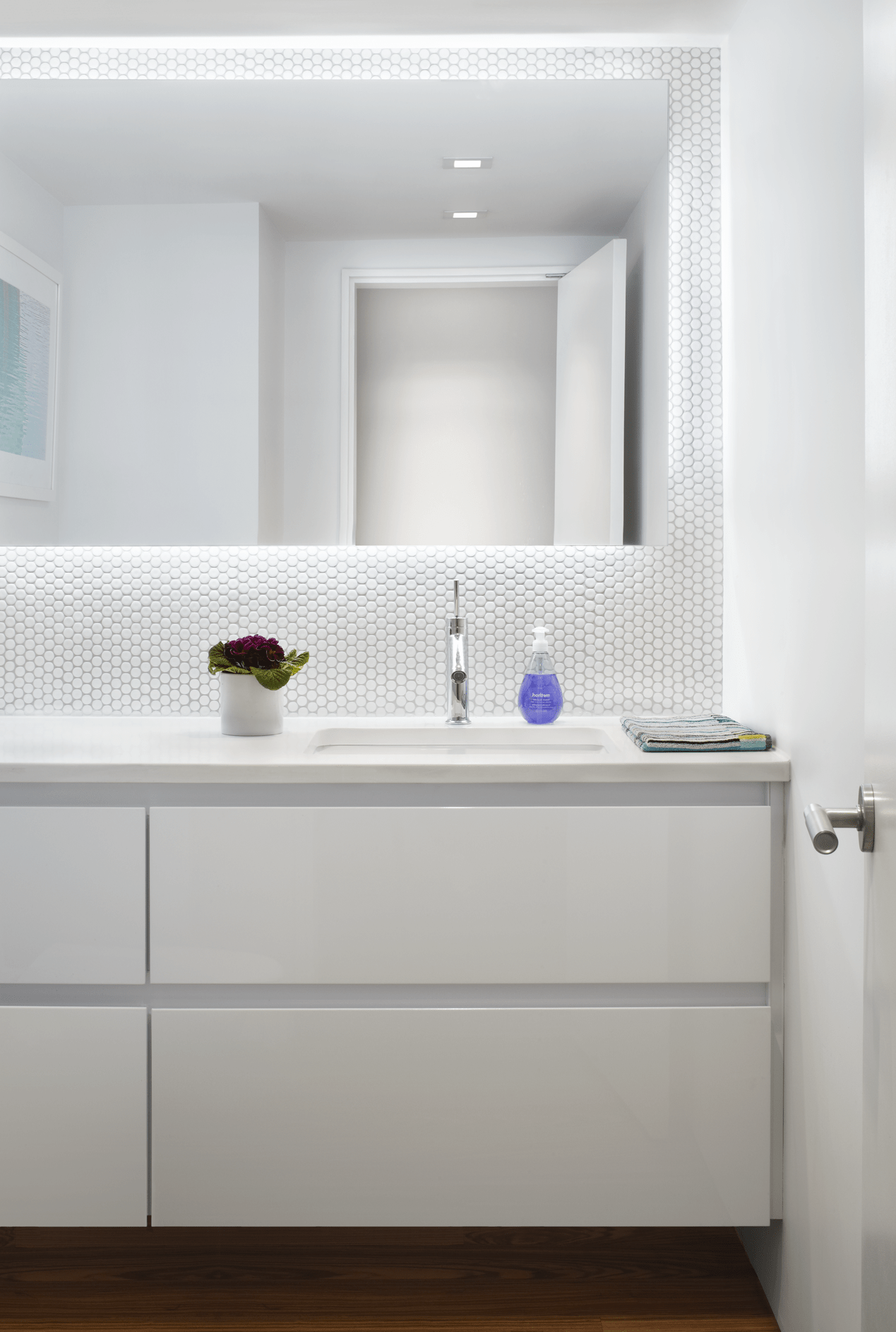 2017 Contemporary Bathroom Mirror With LED Back Light (Image 1 of 20)