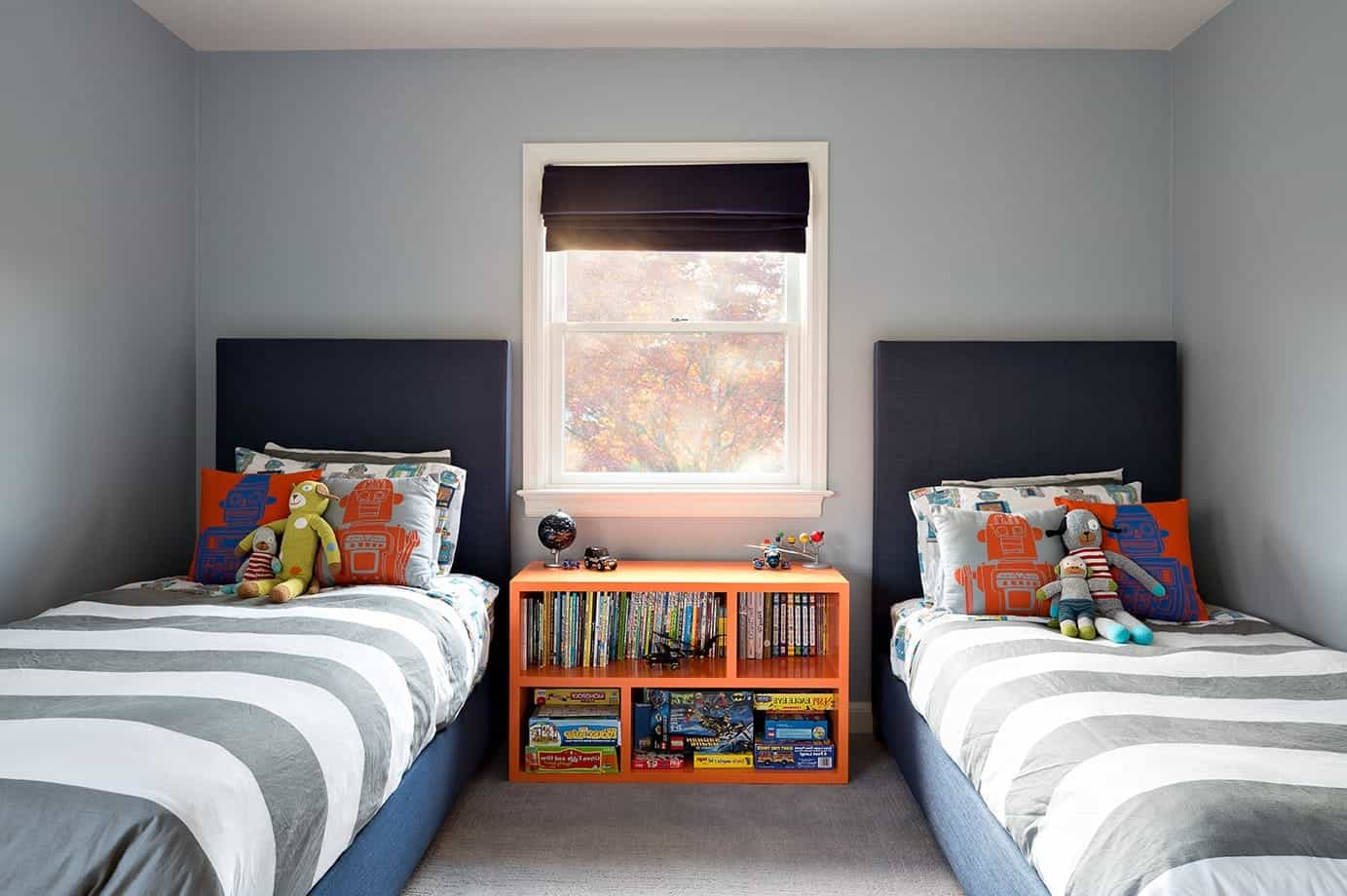 2017 Contemporary Kids' Room With Twin Beds (Image 1 of 27)