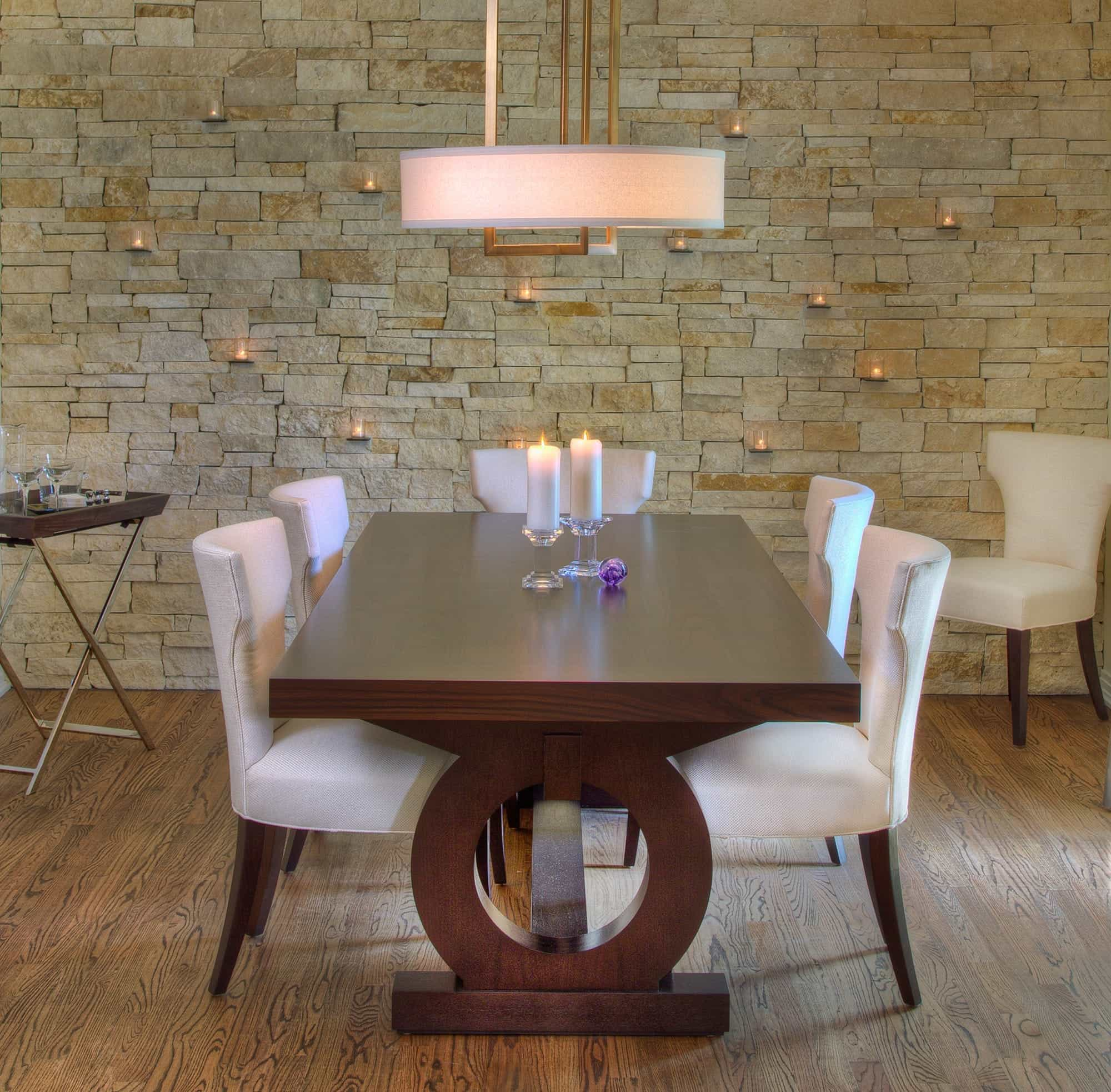 2017 Romantic Contemporary Dining Room Boasts Warm Ambiance (View 19 of 21)