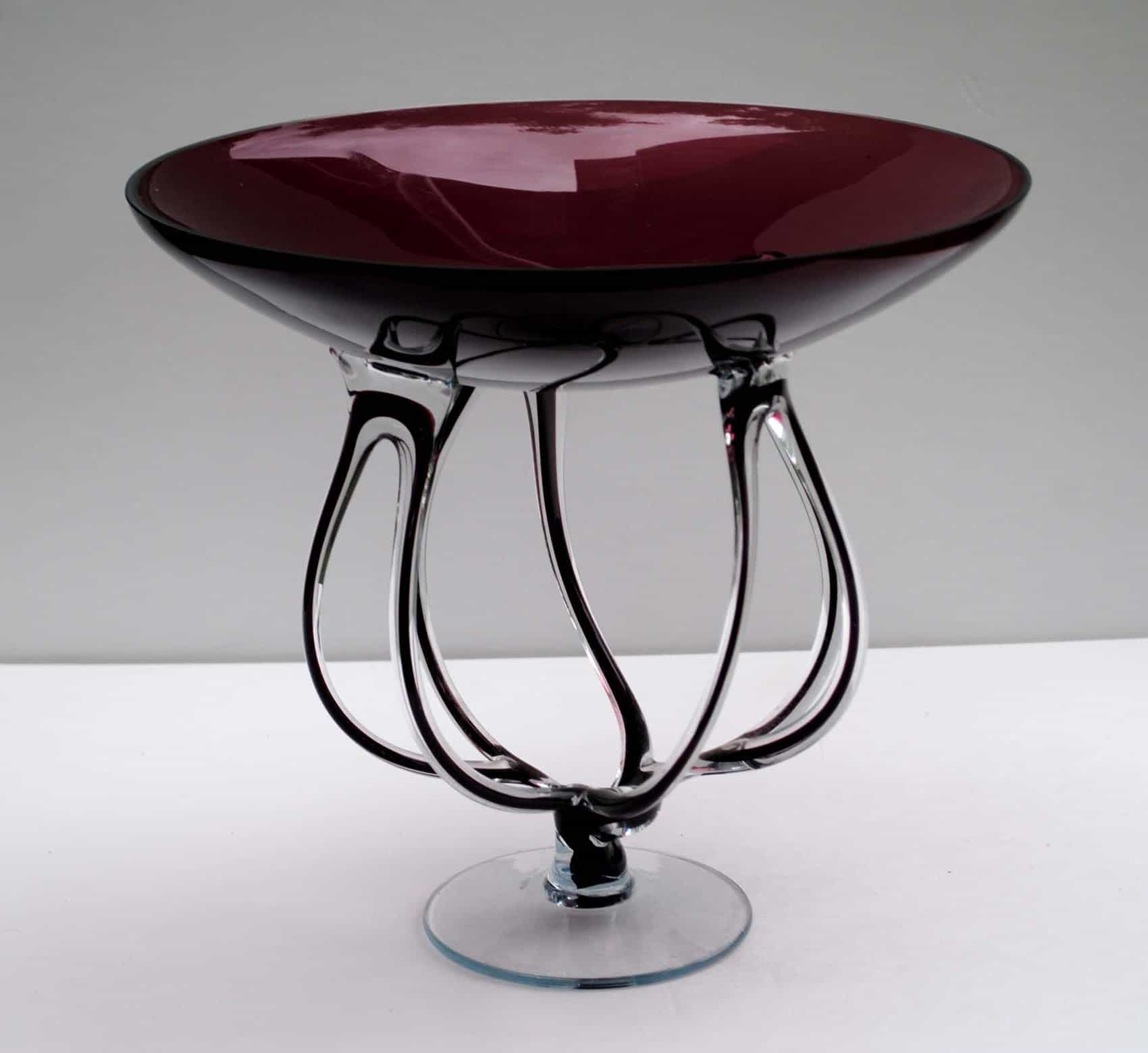 Antique Glass Coffee Table Unusual Shape For Living Room (Image 1 of 15)