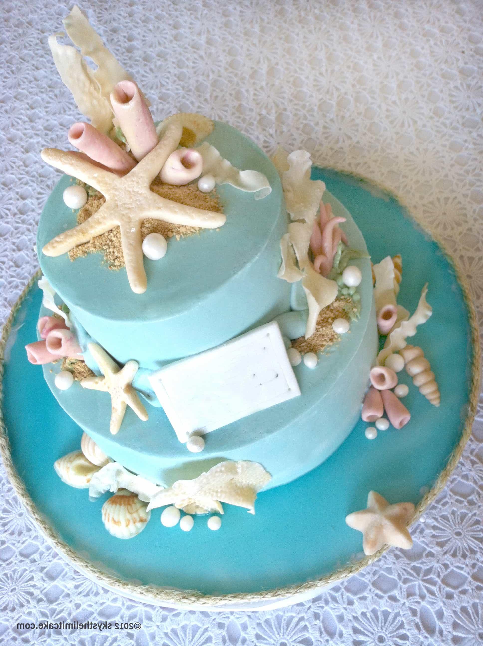 Beach Theme Seaside Wedding Cakes (Image 3 of 13)
