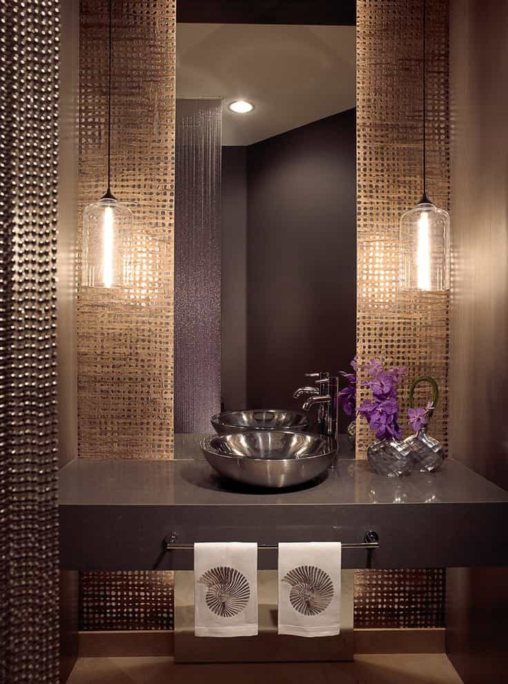 Beaded Curtains For Modern Bathroom Mirror Decor (View 21 of 23)