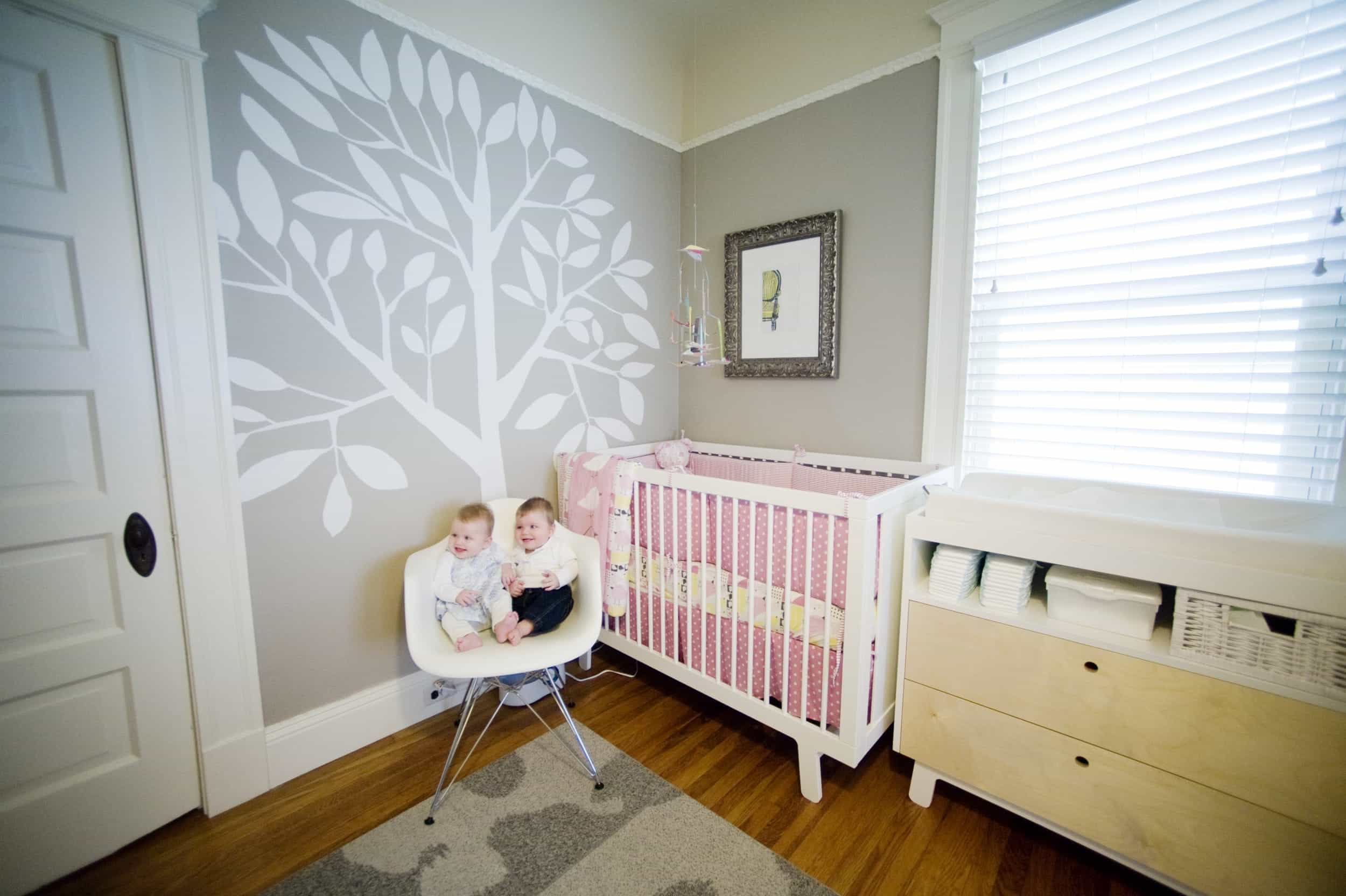 Charming Modern Baby Bedroom For Twins (Image 5 of 33)