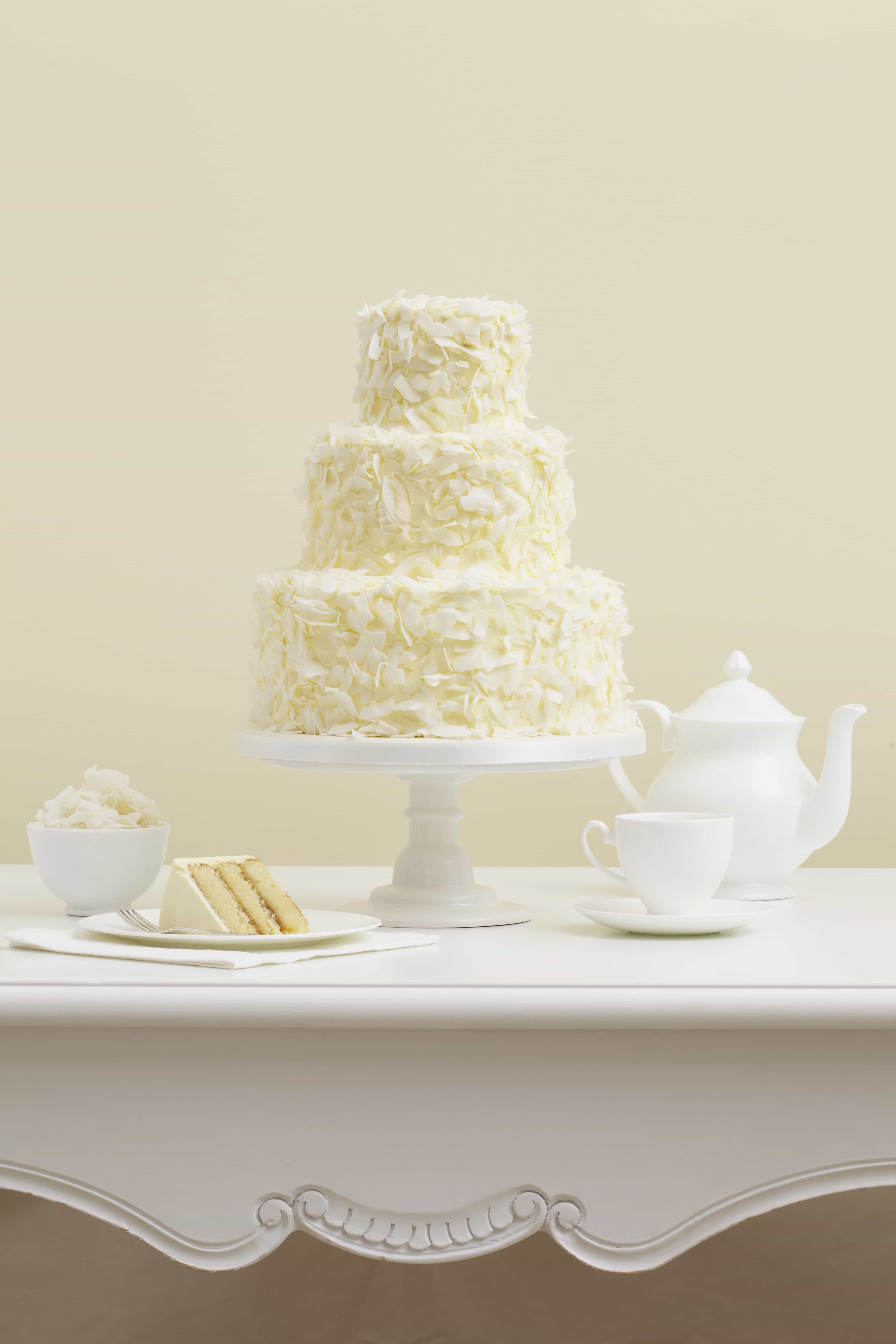 Classic Coconut Wedding Cake (Image 4 of 16)