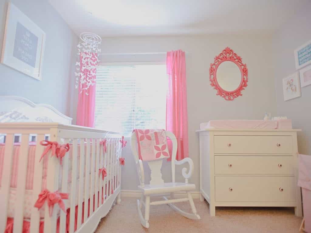Classic Theme Nursery With Pink Accents (Image 6 of 33)
