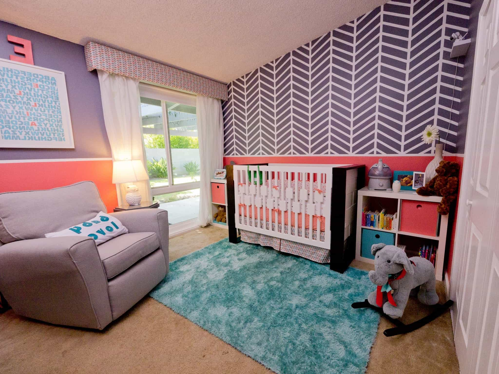 Colorful, Contemporary Girls' Nursery Decoration (Image 7 of 33)