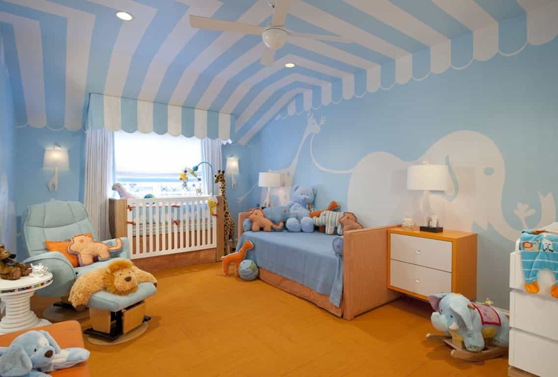 Contemporary Animals Theme Nursery Room Decoration  (Image 8 of 33)