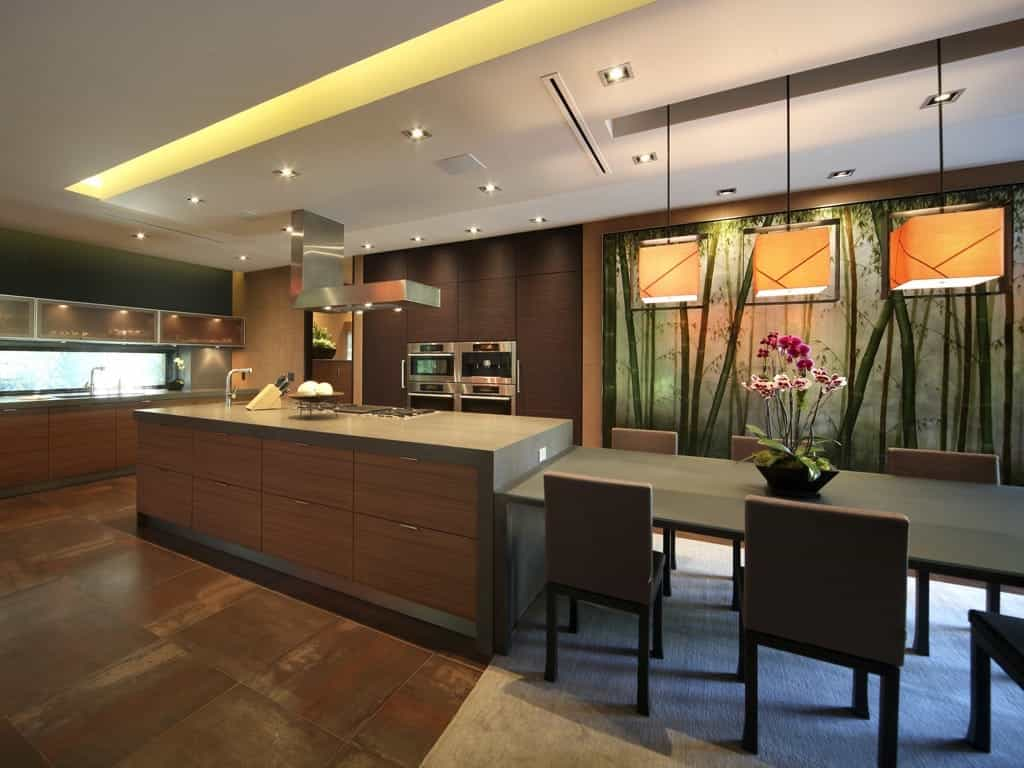 Contemporary Asian Kitchen With Lava Stone Countertops (View 18 of 32)