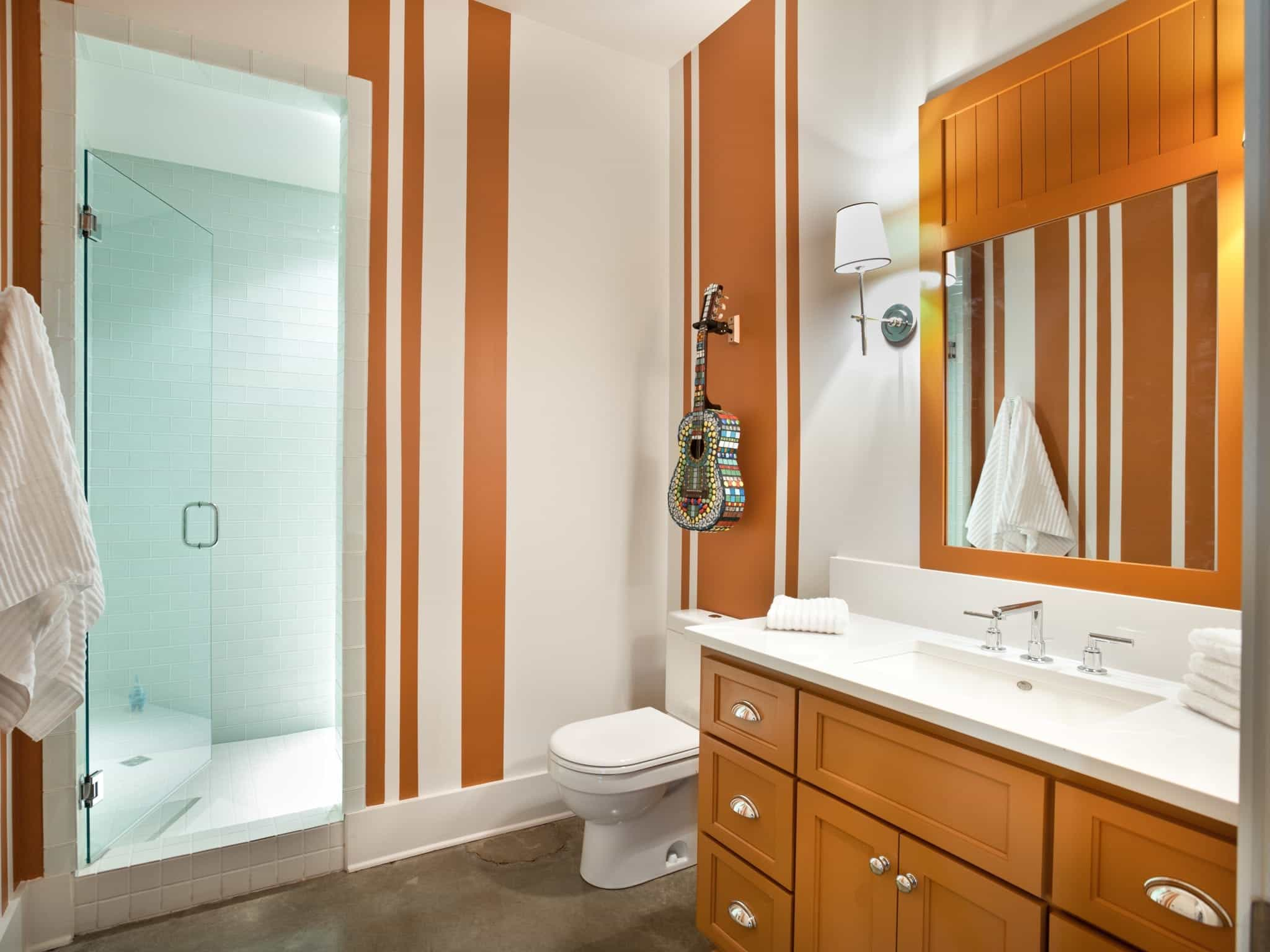 Contemporary Fresh Look Bathroom With Corner Vanity (Image 7 of 24)