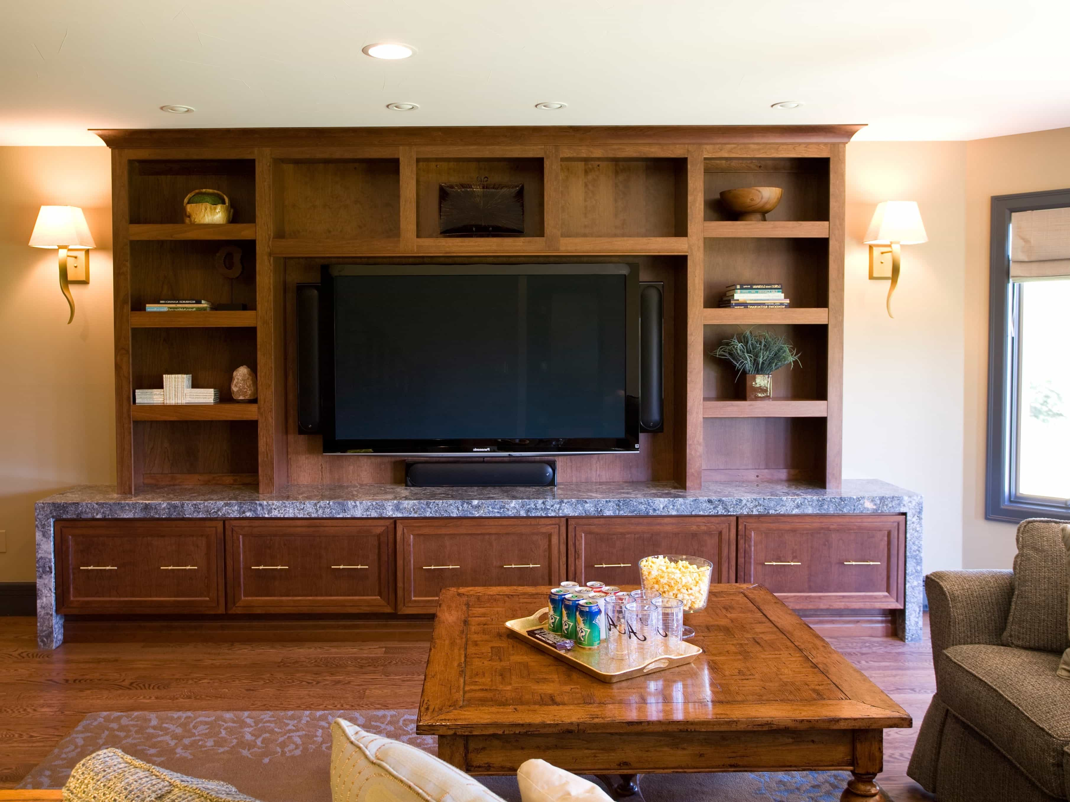 Craftsman Wood Entertainment Center (Image 7 of 21)