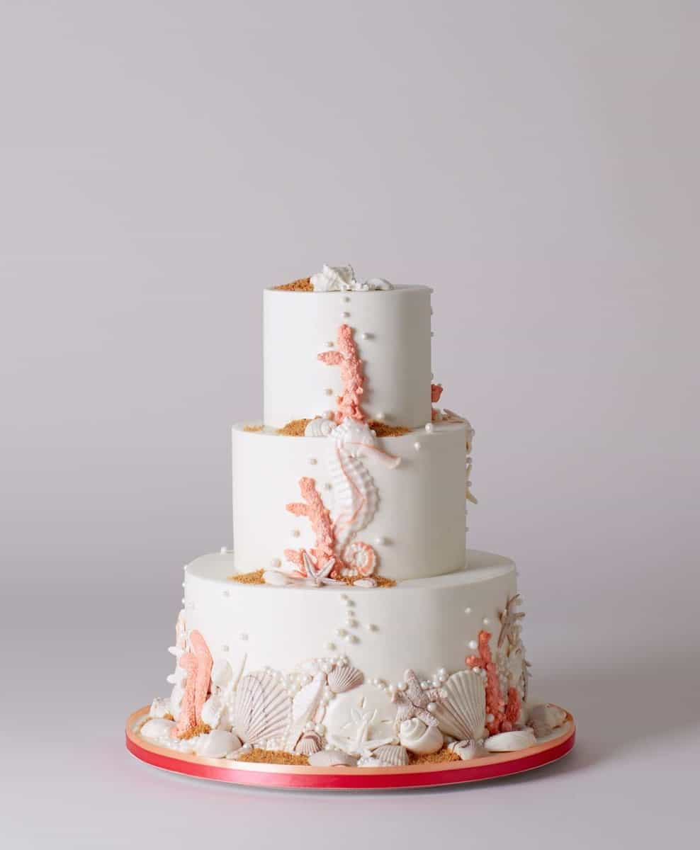 Creative Beach Seaside Wedding Cake (Image 5 of 13)