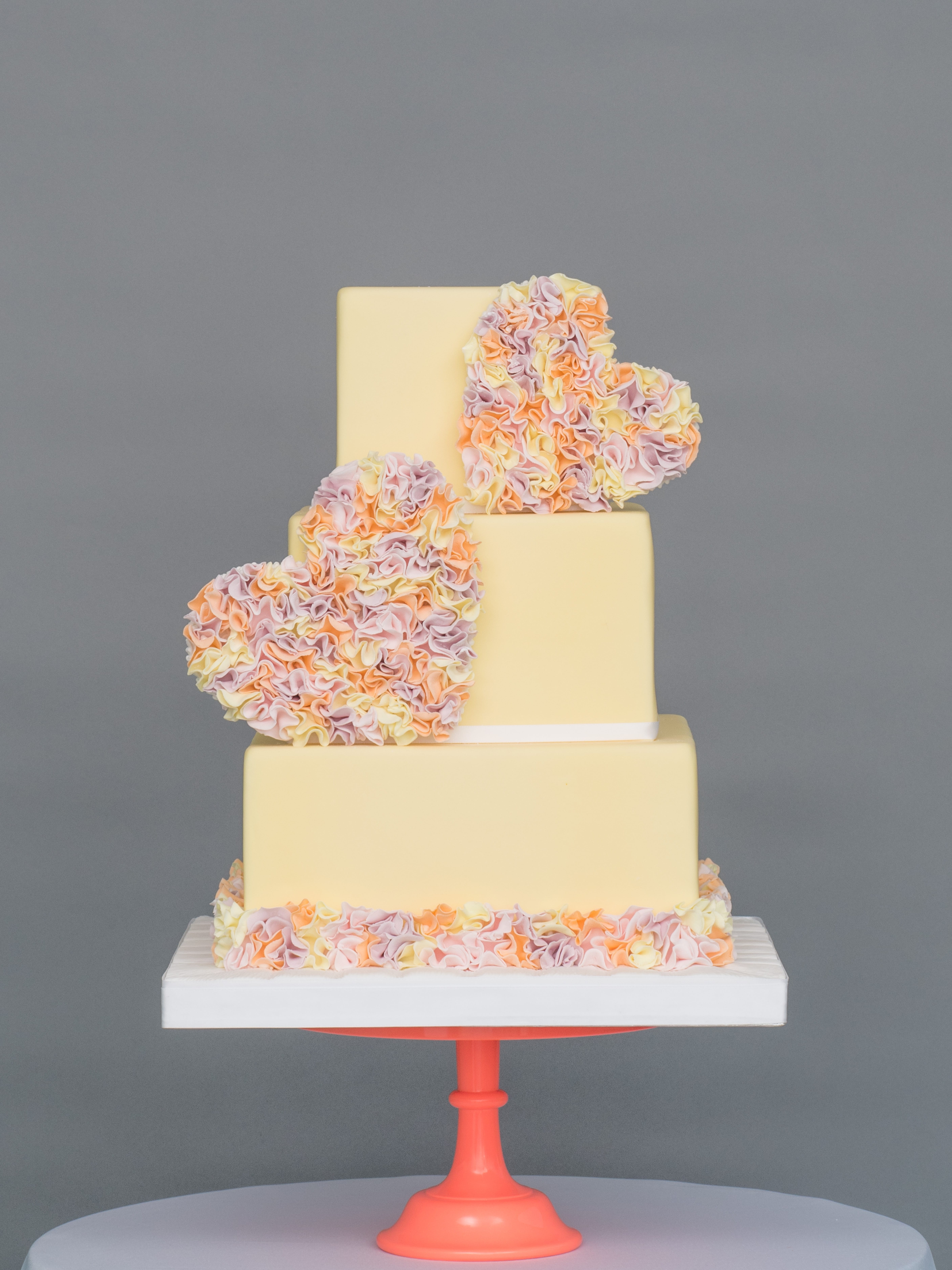 Cute Couture Square Wedding Cakes (View 2 of 20)