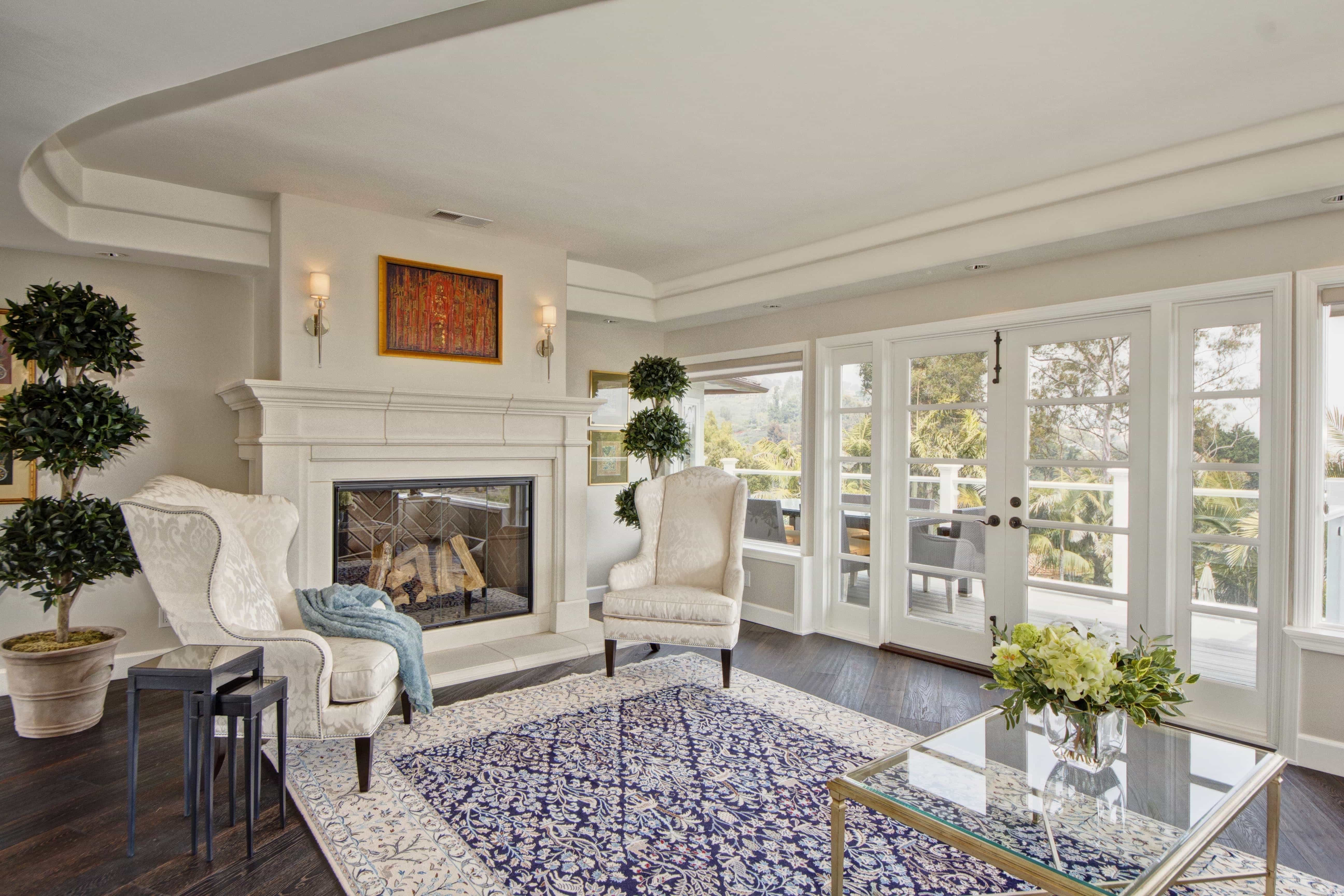 Elegant Lines And Sophisticated Patterns Carpet Flooring For Classic French Living Room Interior (View 12 of 13)