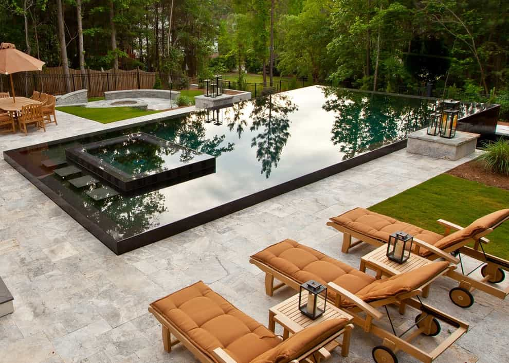 Example Of Simple Design Trendy Infinity Pool Design (View 6 of 25)