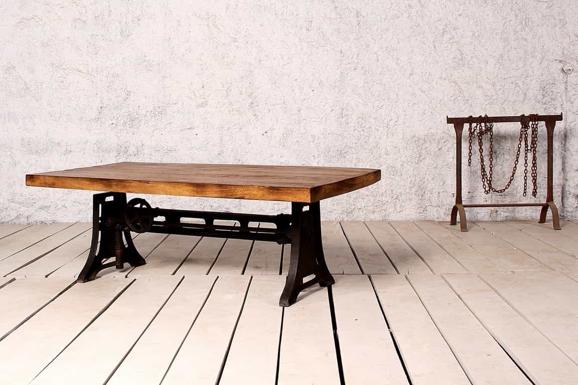 Industrial Wood Coffee Table With Metal Legs (Image 11 of 30)