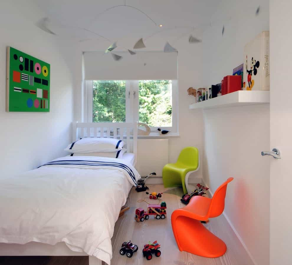Inspiration For A Small Scandinavian Gender Neutral Toddler Kids Bedroom Remodel (Image 16 of 27)