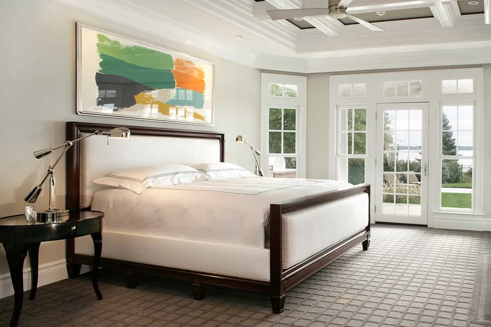 Inspiration For A Timeless Bedroom Remodel With Gray Walls And Carpet (Image 12 of 18)