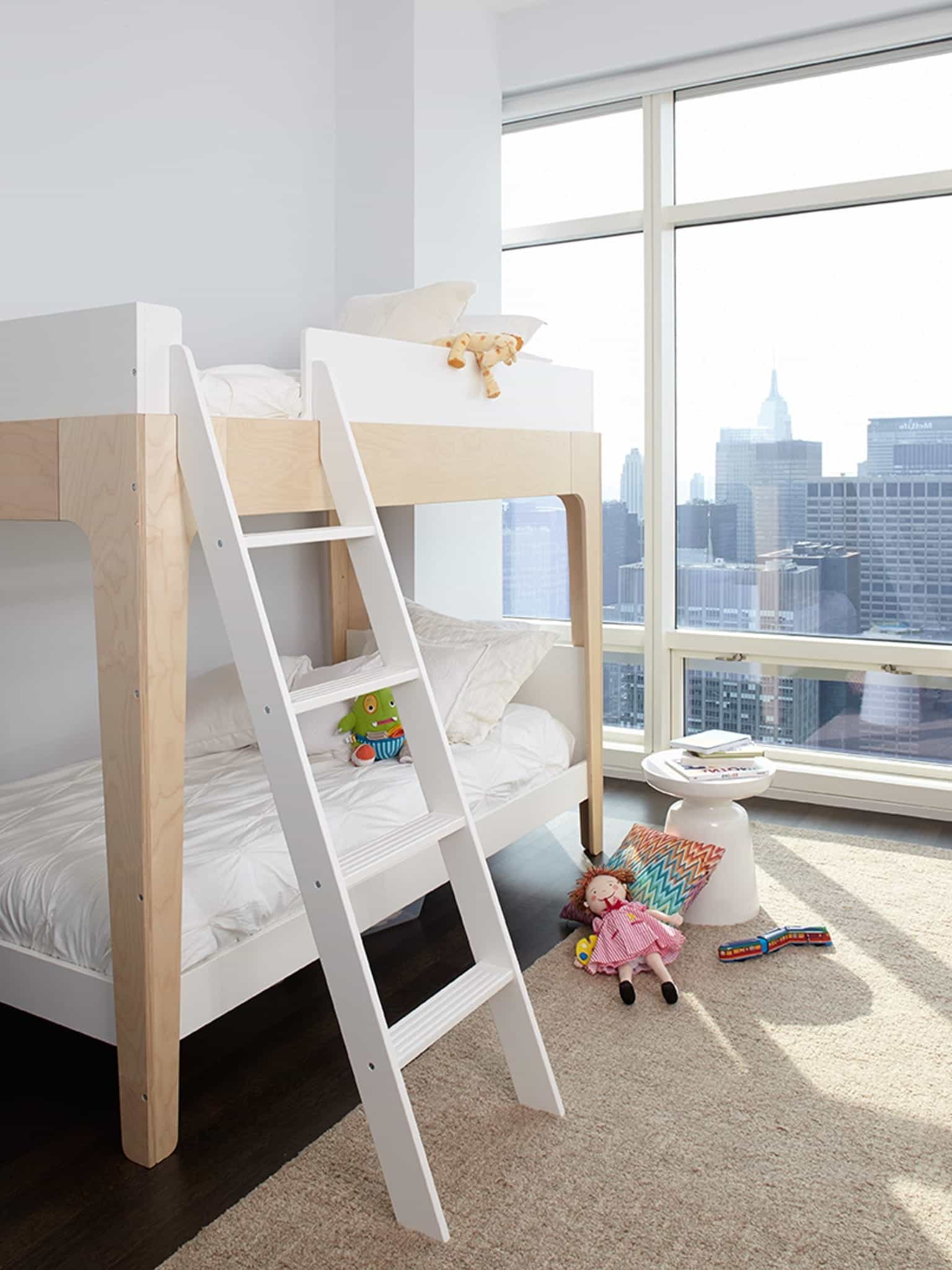 Kid's Bedroom With Bunk Beds For Urban Apartment (Image 18 of 27)