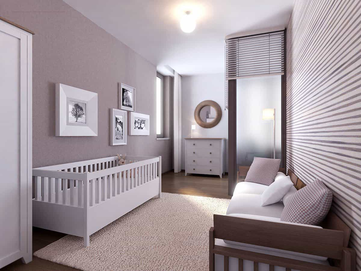 Latest Modern Minimalist Nursery Interior Room (Image 1 of 9)