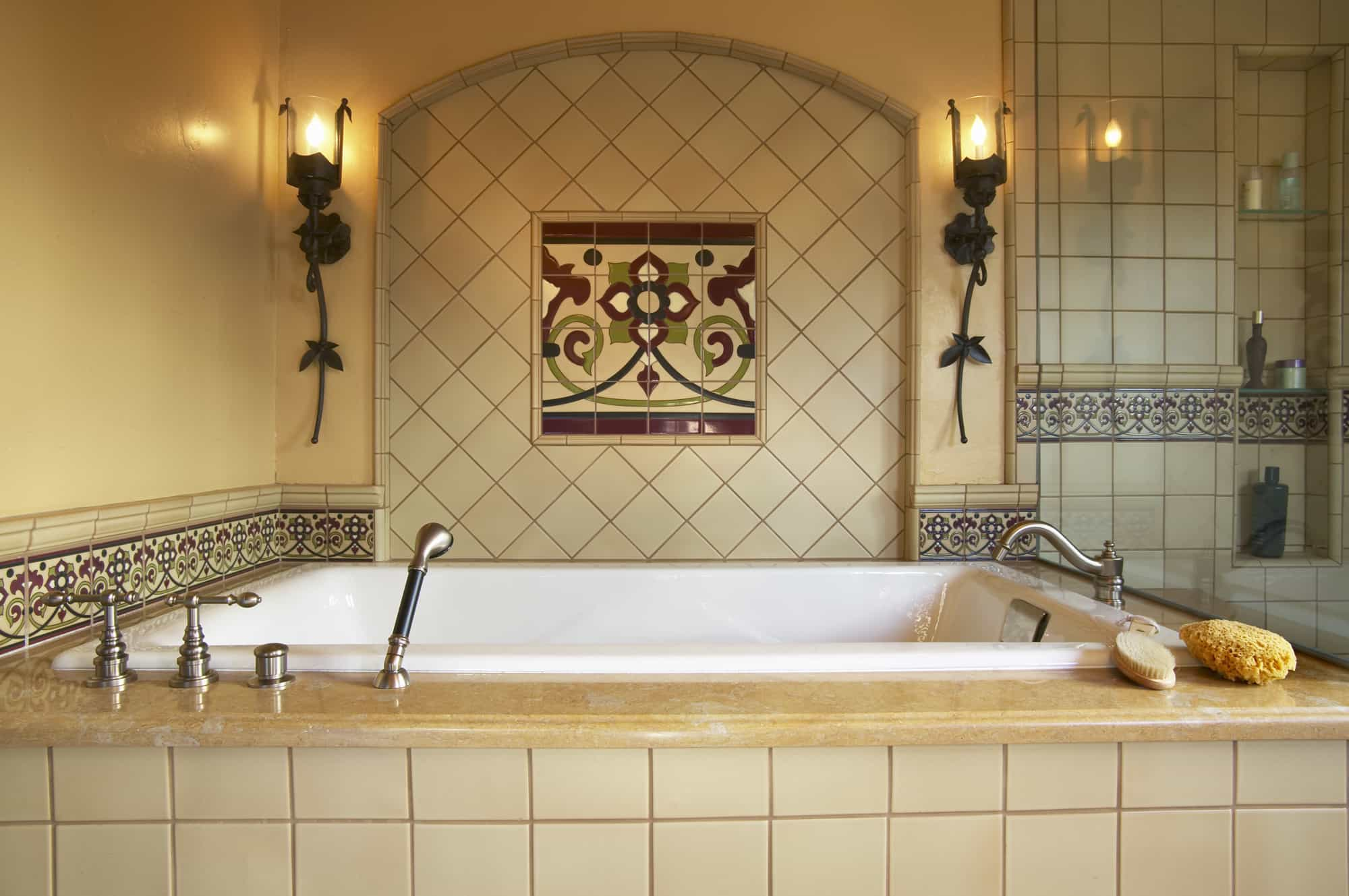 Mexican Inspired Master Bathroom With Soaker Tub (Image 6 of 10)
