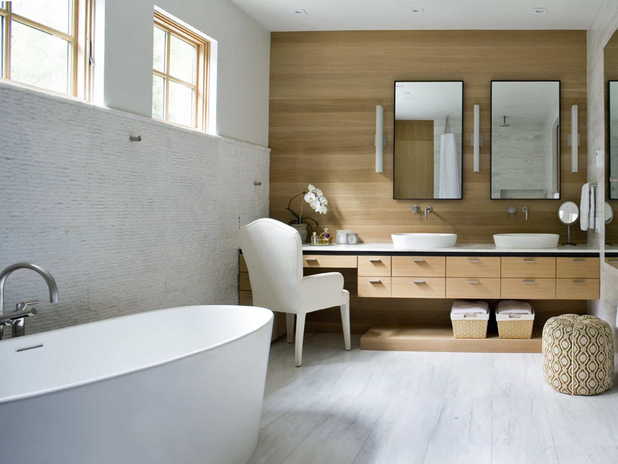 Minimalist Spa Style Bathroom Interior Furniture And Decor (View 2 of 29)
