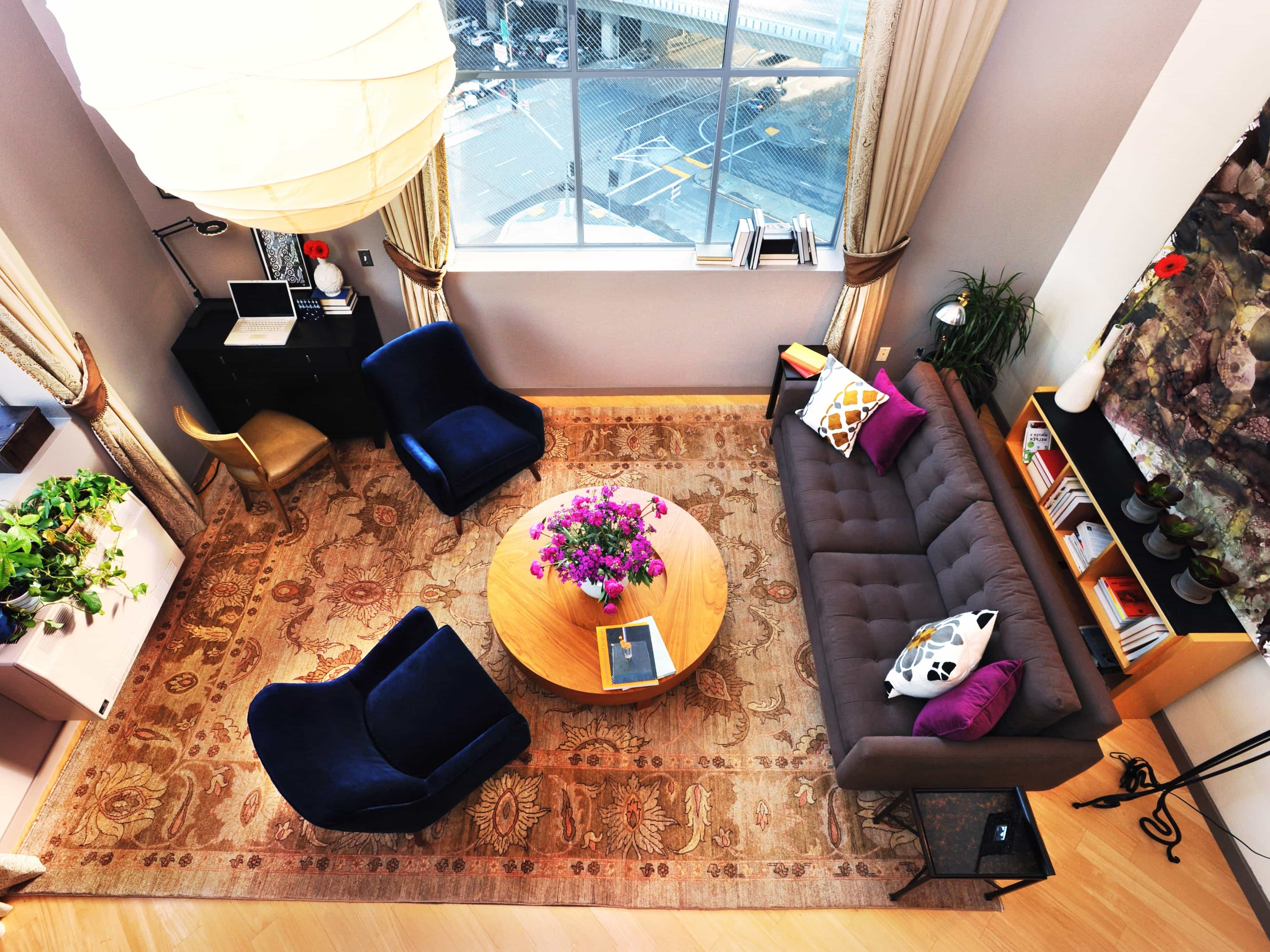 Modern Apartment Living Room Royal Sofa Furniture Layout (Image 21 of 31)