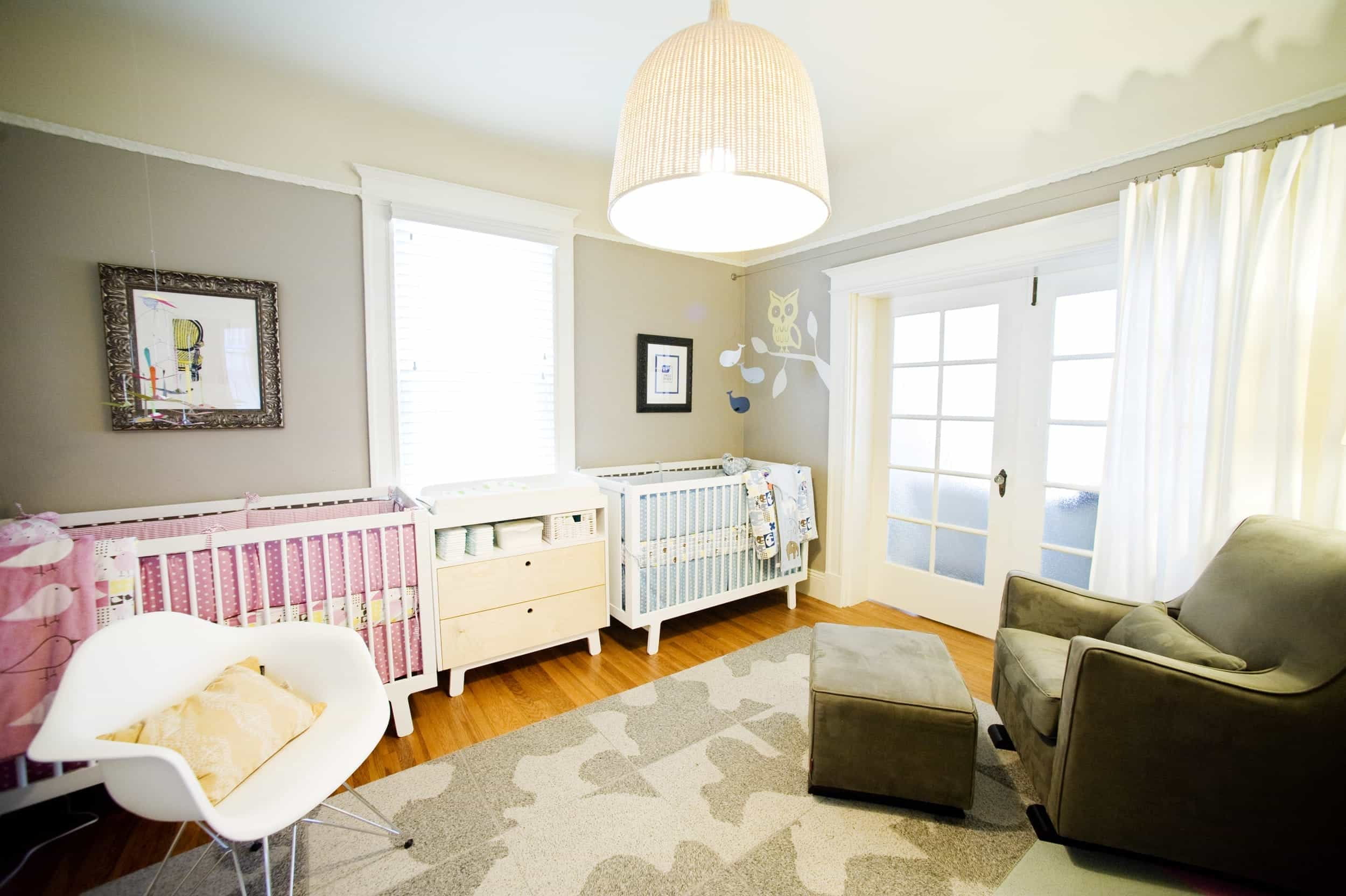 Modern Baby Bedroom For Two That's Cozy And Cool (Image 15 of 33)