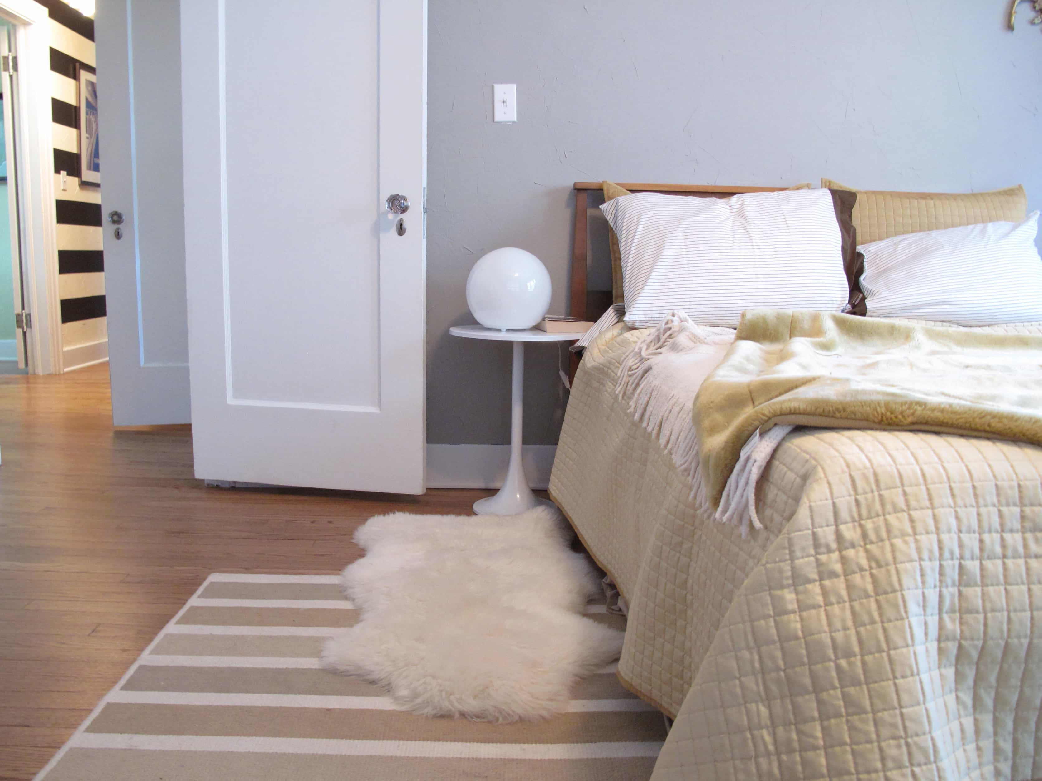 Modern Bedroom With Elegant Layered Rugs (Image 17 of 28)