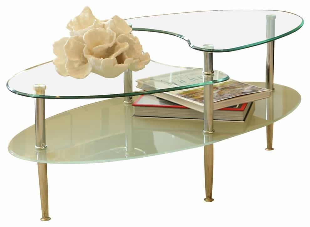 Modern Glass Oval Coffee Table (Image 19 of 30)