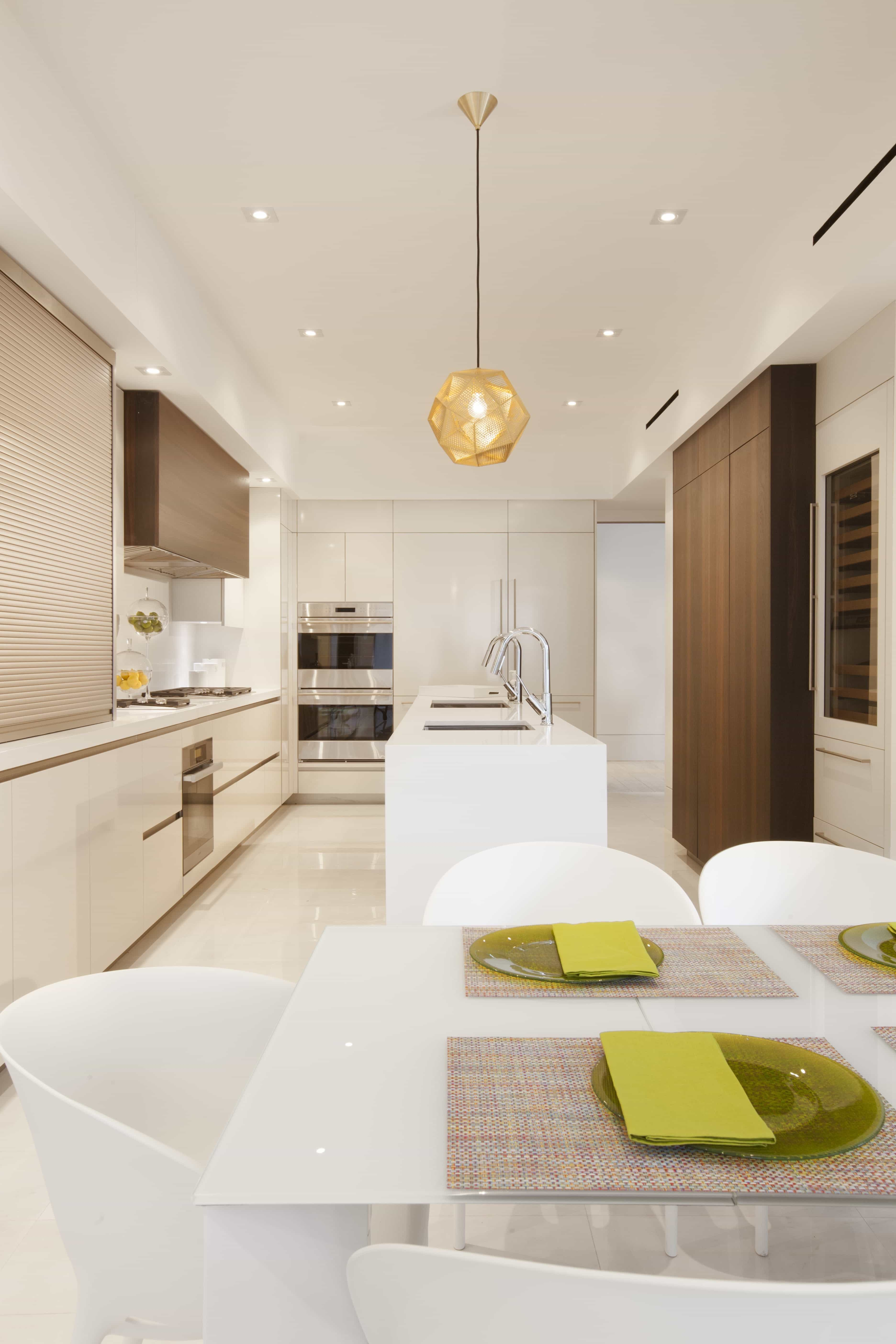Modern Kitchen Features Sleek And Geometric Cabinets Design (Photo 1 of 26)