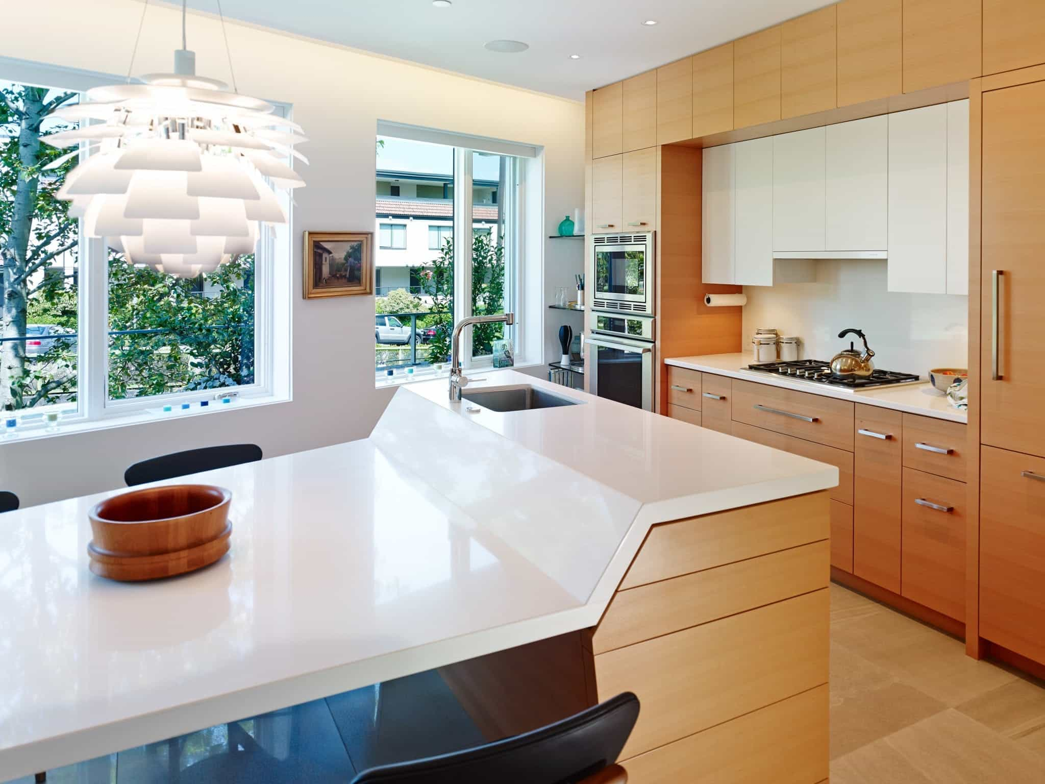 Modern Kitchen With Unique Island Design And Contemporary Cabinets (Image 19 of 26)