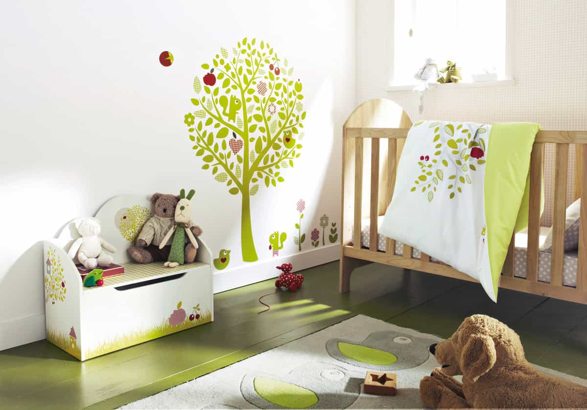 Modern Minimalist Nursery Bedroom Wall Decor (Image 6 of 9)