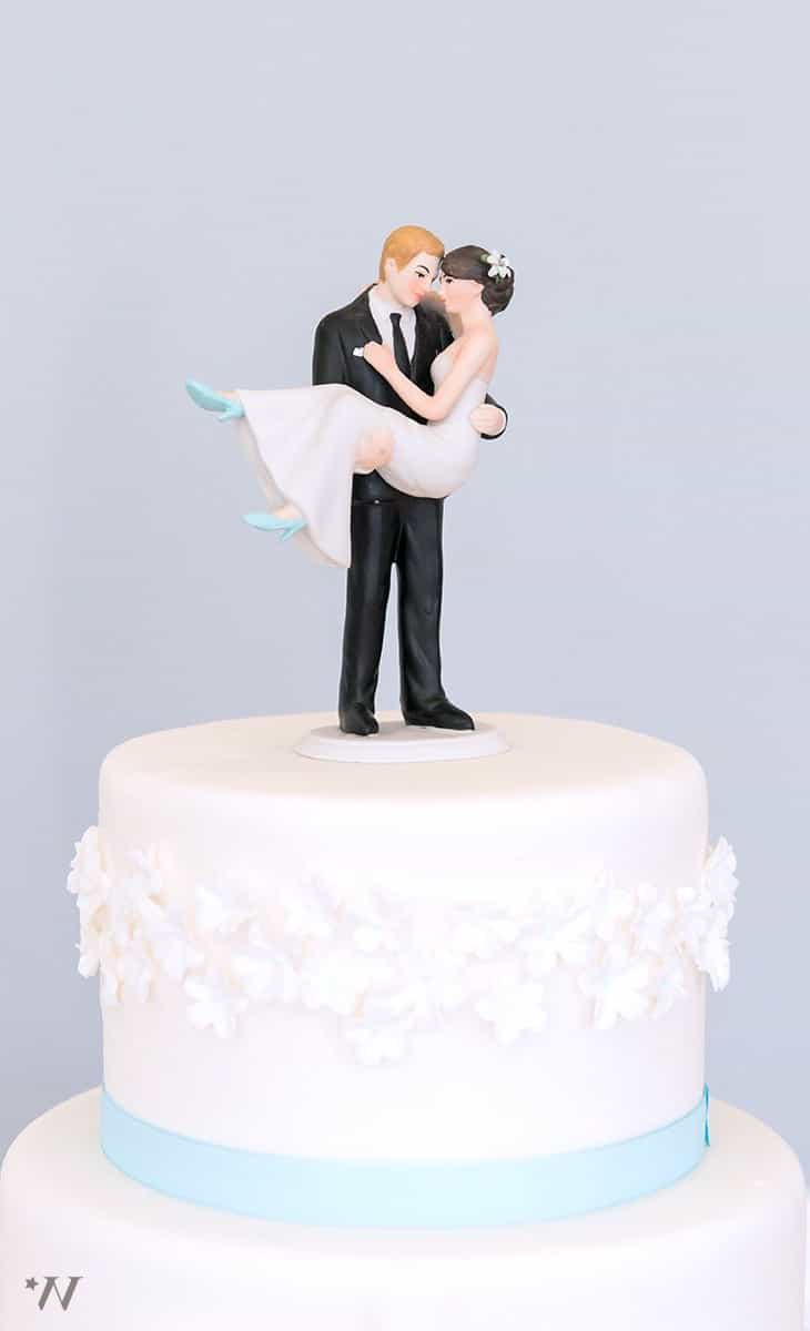 Modern Romantic Wedding Cake Topper (Image 6 of 10)