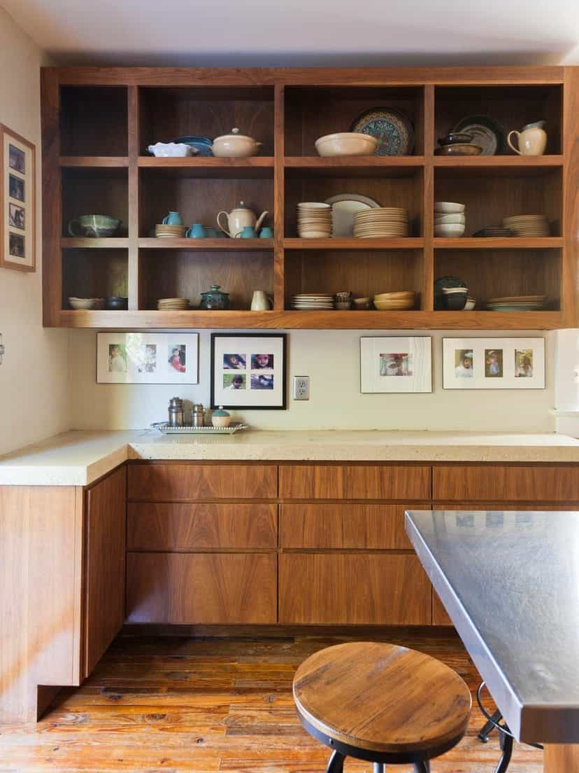 Modern Wooden Kitchen Cabinets Re Design With Storage (Image 21 of 26)