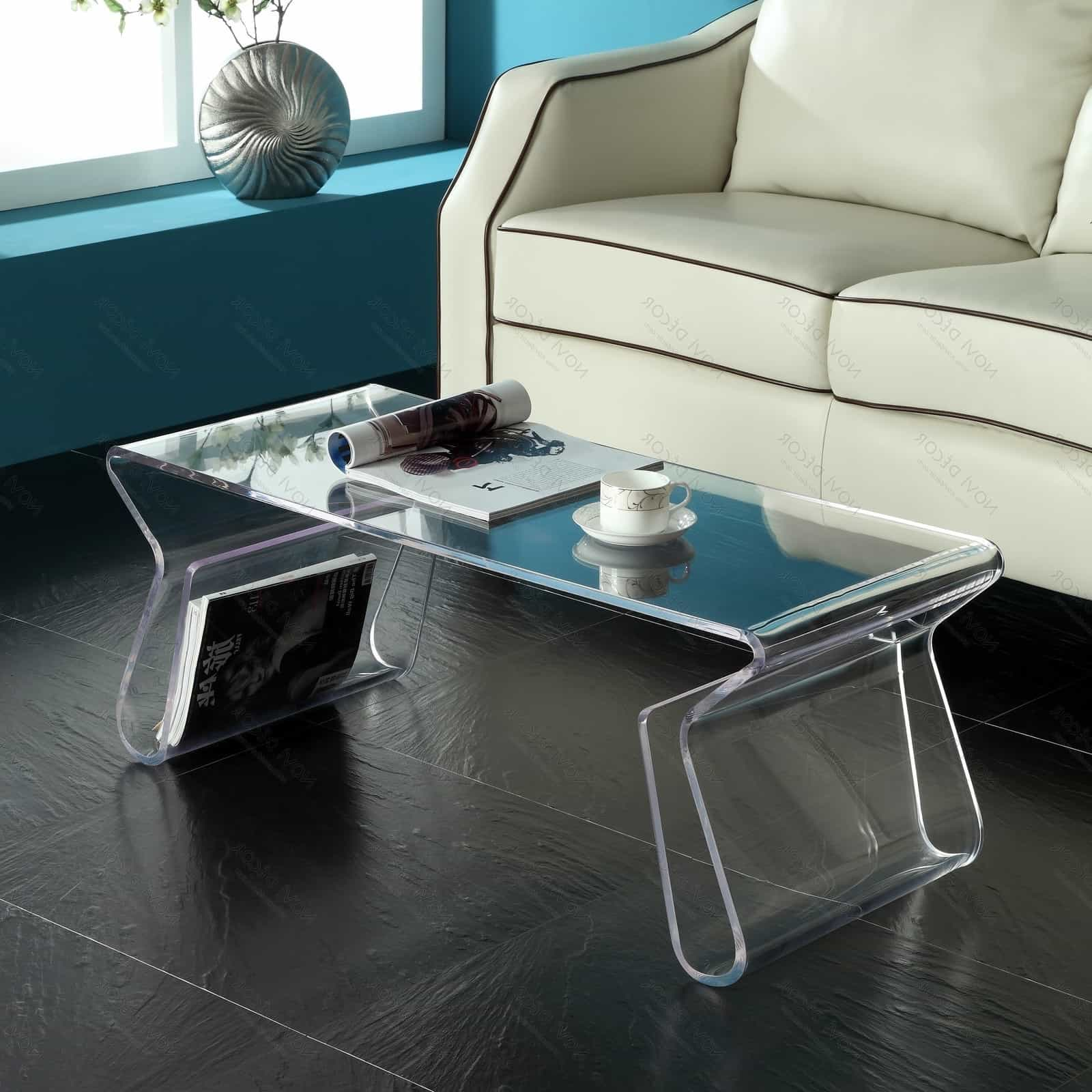 Modern Acrylic Coffee Table (Image 17 of 30)