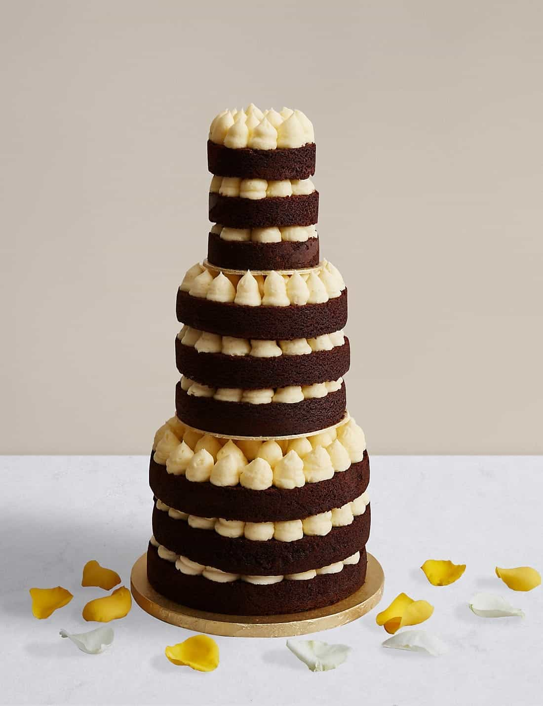 Naked Style Chocolate And Vanilla Wedding Cake (View 14 of 30)