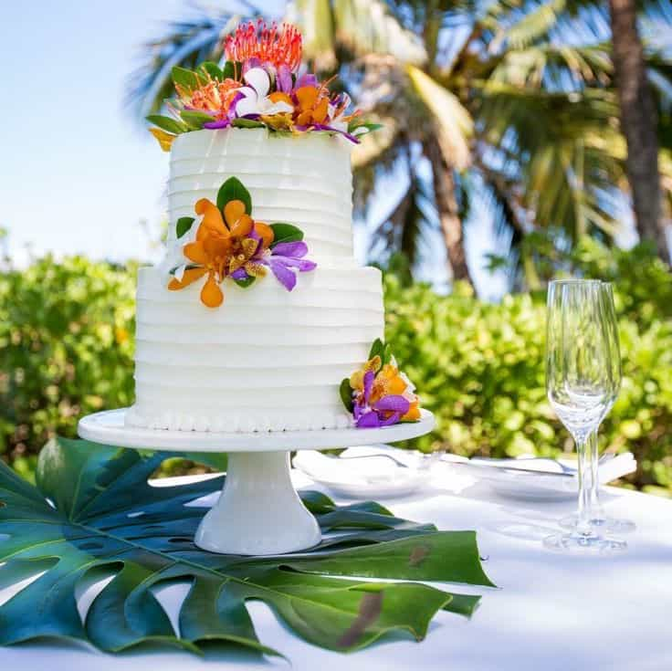 Nature Wedding Cake With White Buttercream Frosting (Image 4 of 5)