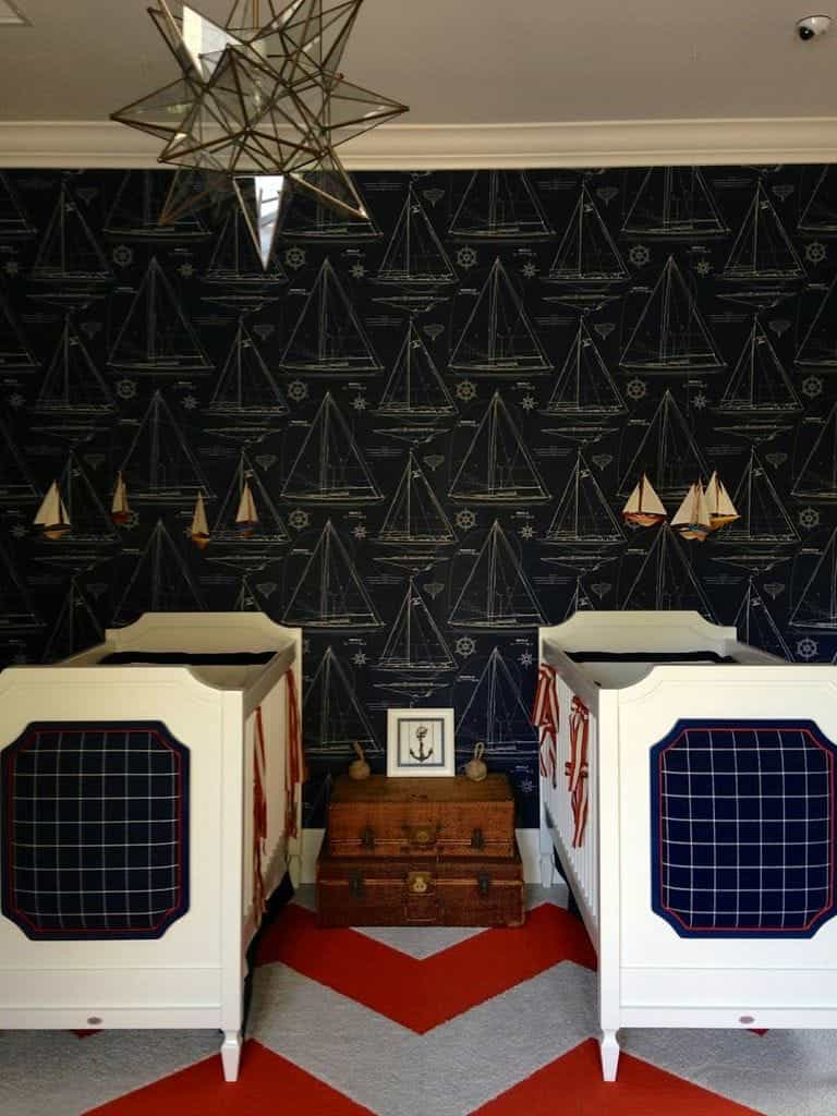Nautical Themed Nursery For Twins (Image 25 of 33)