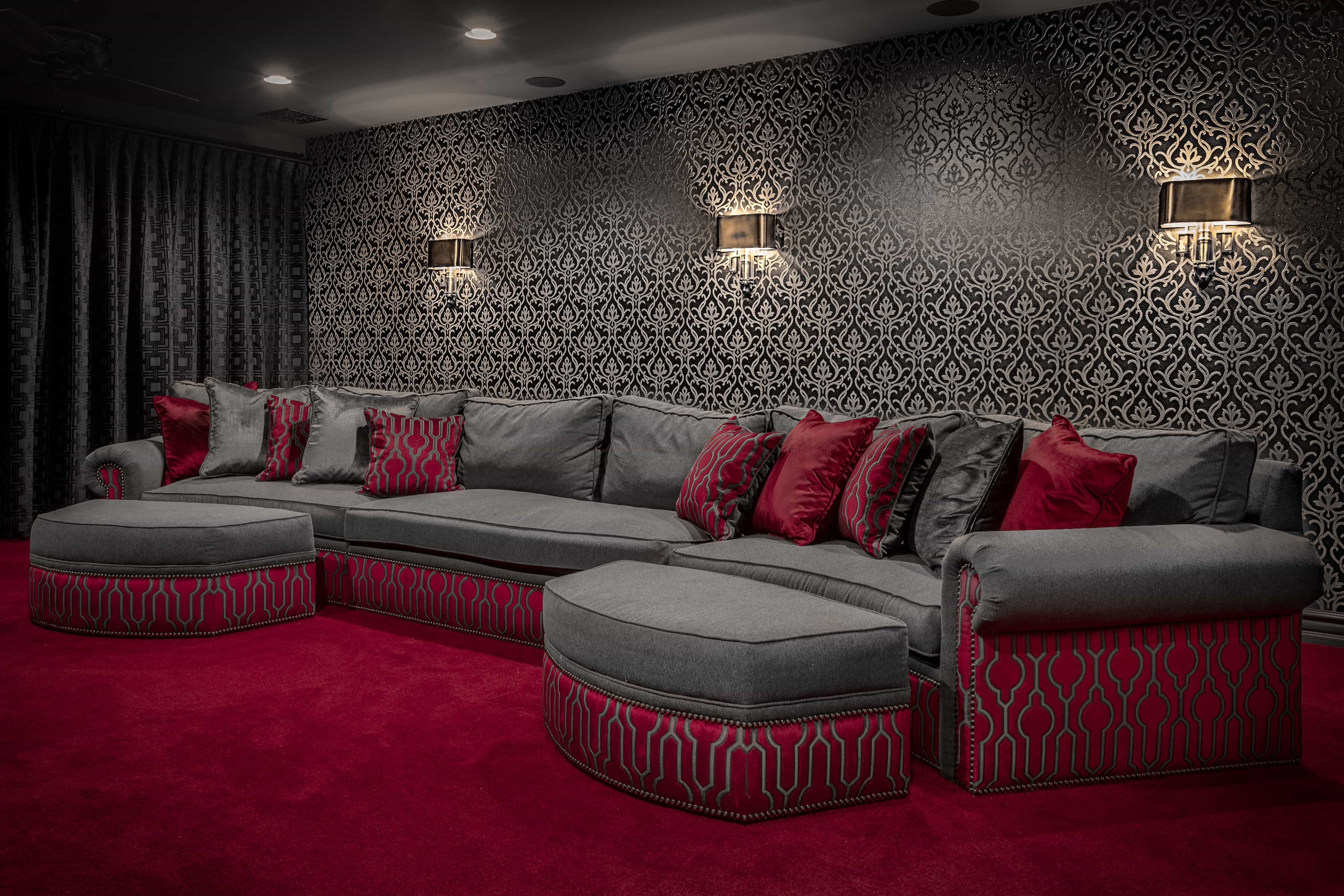 Old Hollywood Home Theater Interior Furniture  (Image 16 of 21)