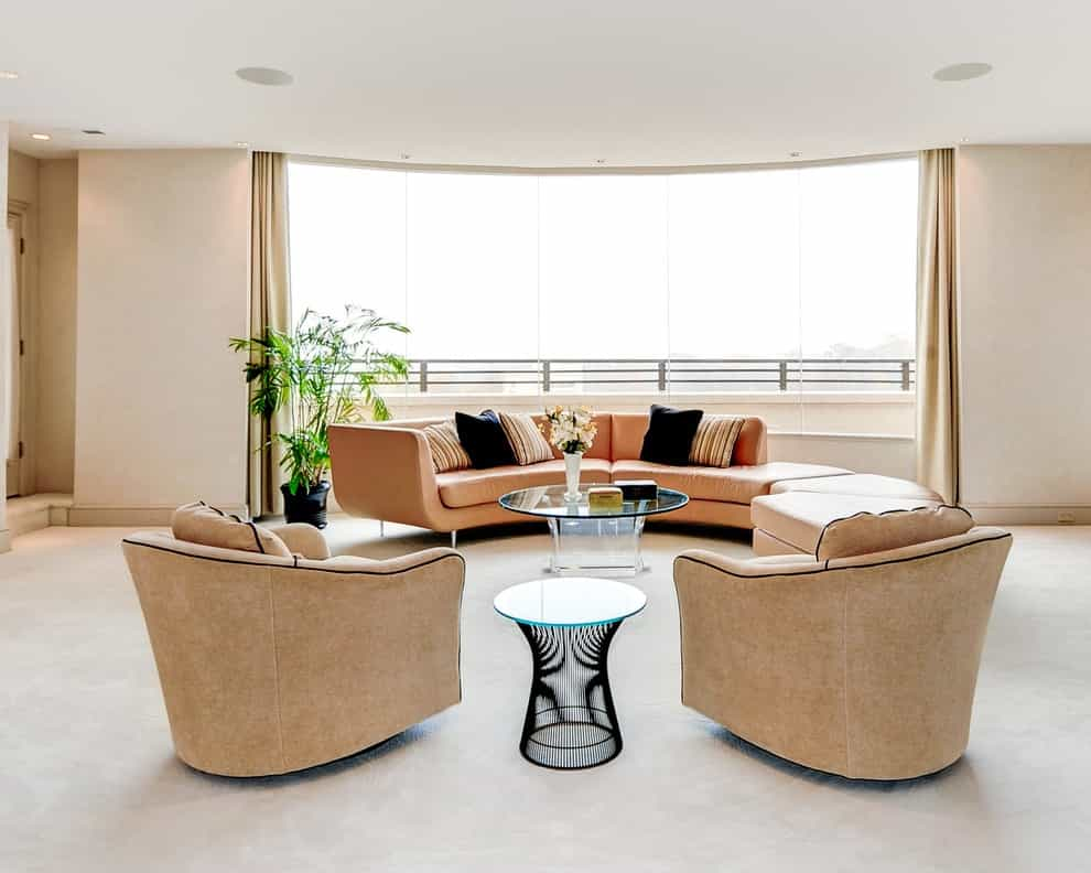 Oval Shape With Distinct Curving Legs Coffee Table For Living Room (Image 25 of 30)