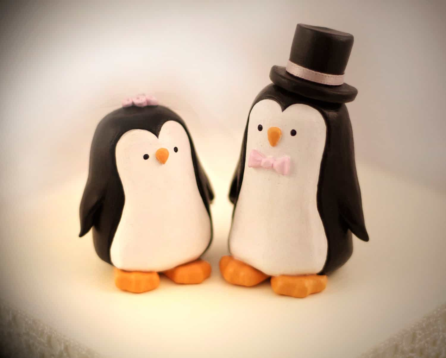 Penguin Wedding Cake Topper (Image 7 of 10)
