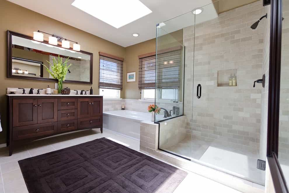 Relaxing Space Traditional Bathroom Remodel With Corner Shower (View 5 of 14)