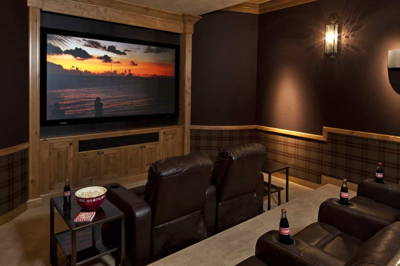 Rustic Home Theater Interior Design (View 15 of 21)